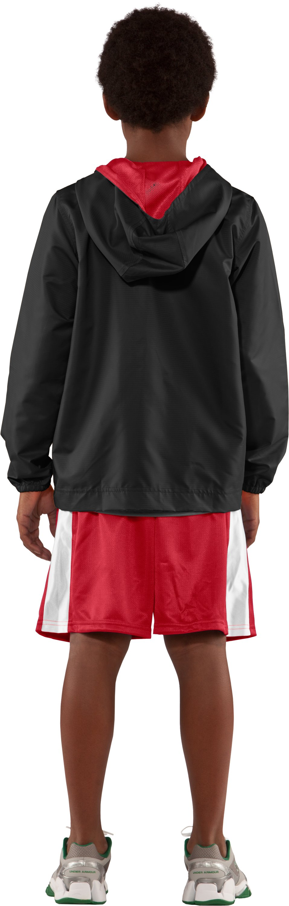 Boys' Tideburst Jacket, Black , Back