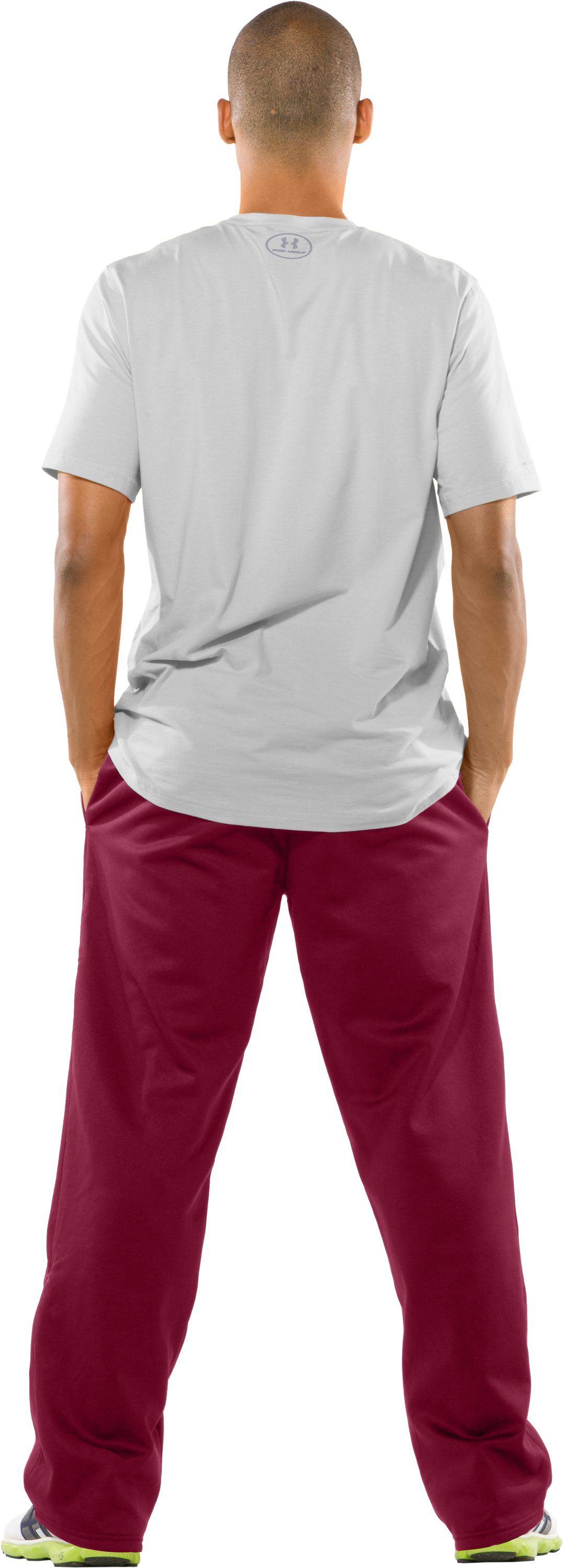 Men's Armour Fleece® Team Pants, Maroon, Back
