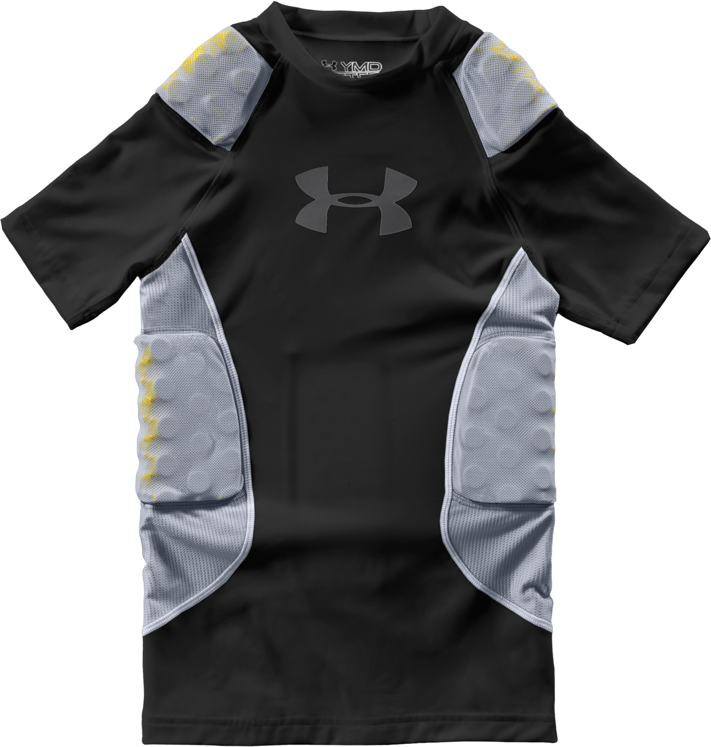 Boys' MPZ® 5-Pad Impact Football Shirt, Black , Laydown