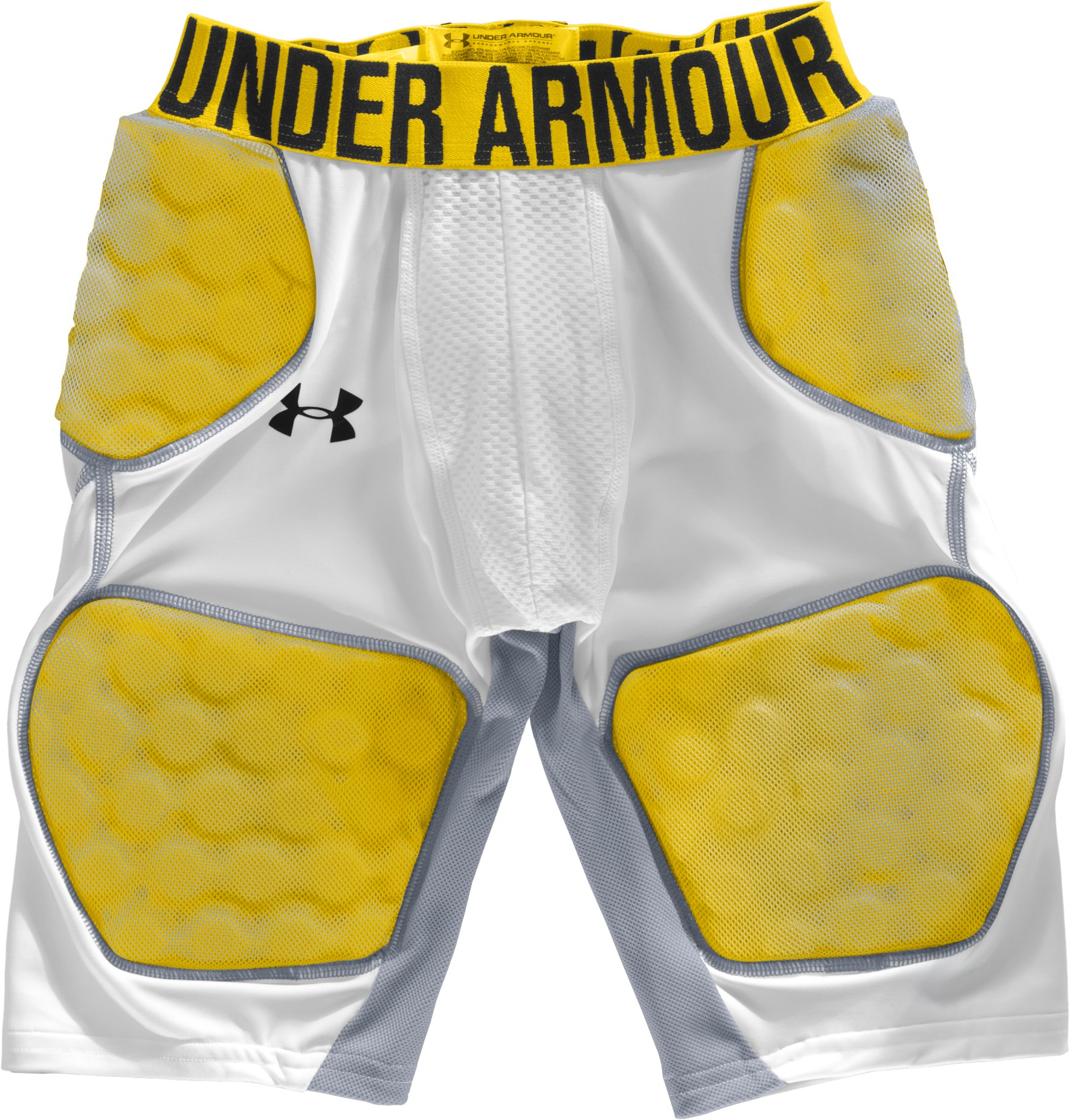 Boys' MPZ® 5-Pad Armour® Girdle, White, Laydown