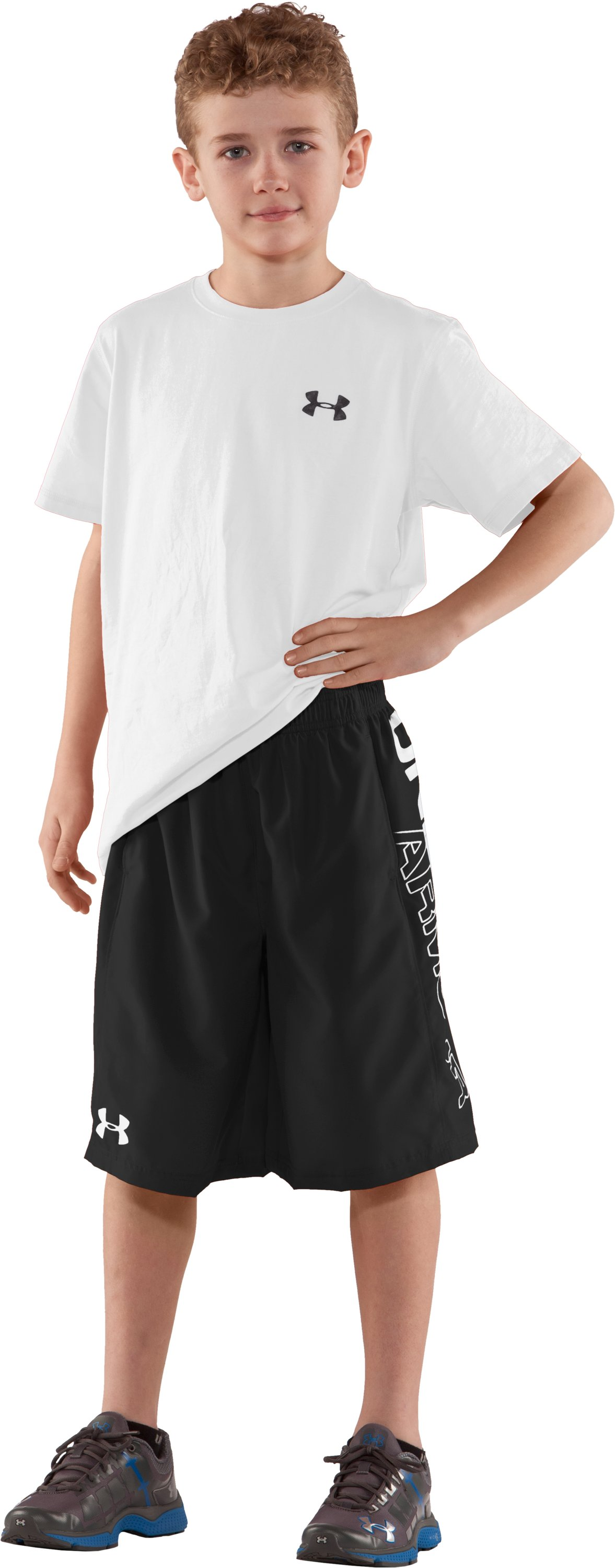 Boys' UA Criddler Woven Shorts, Black