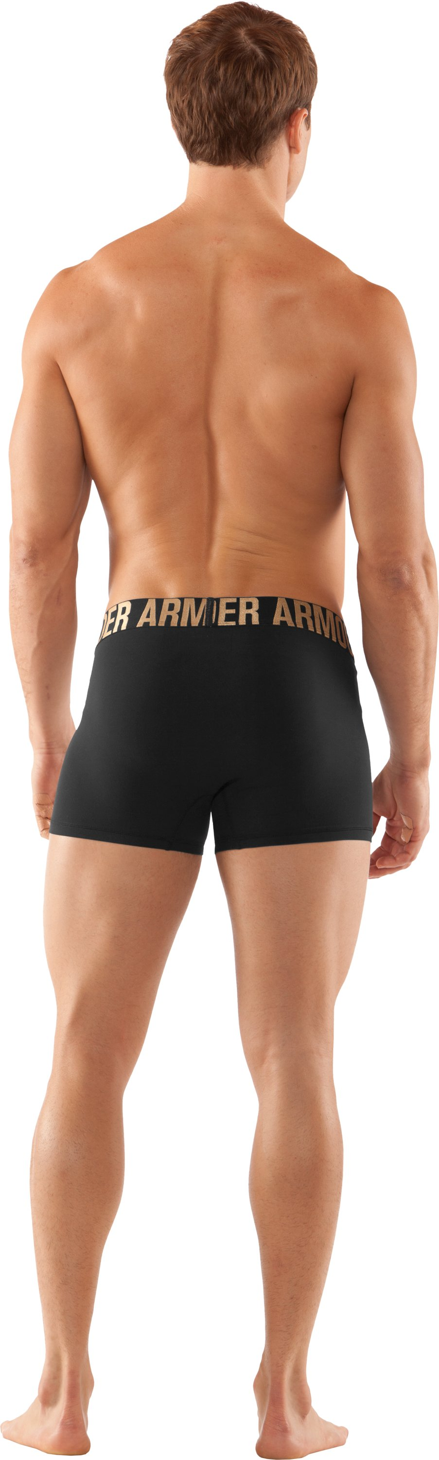 "Men's UA Elite 3"" Boxerjock® Boxer Briefs, Black , Back"