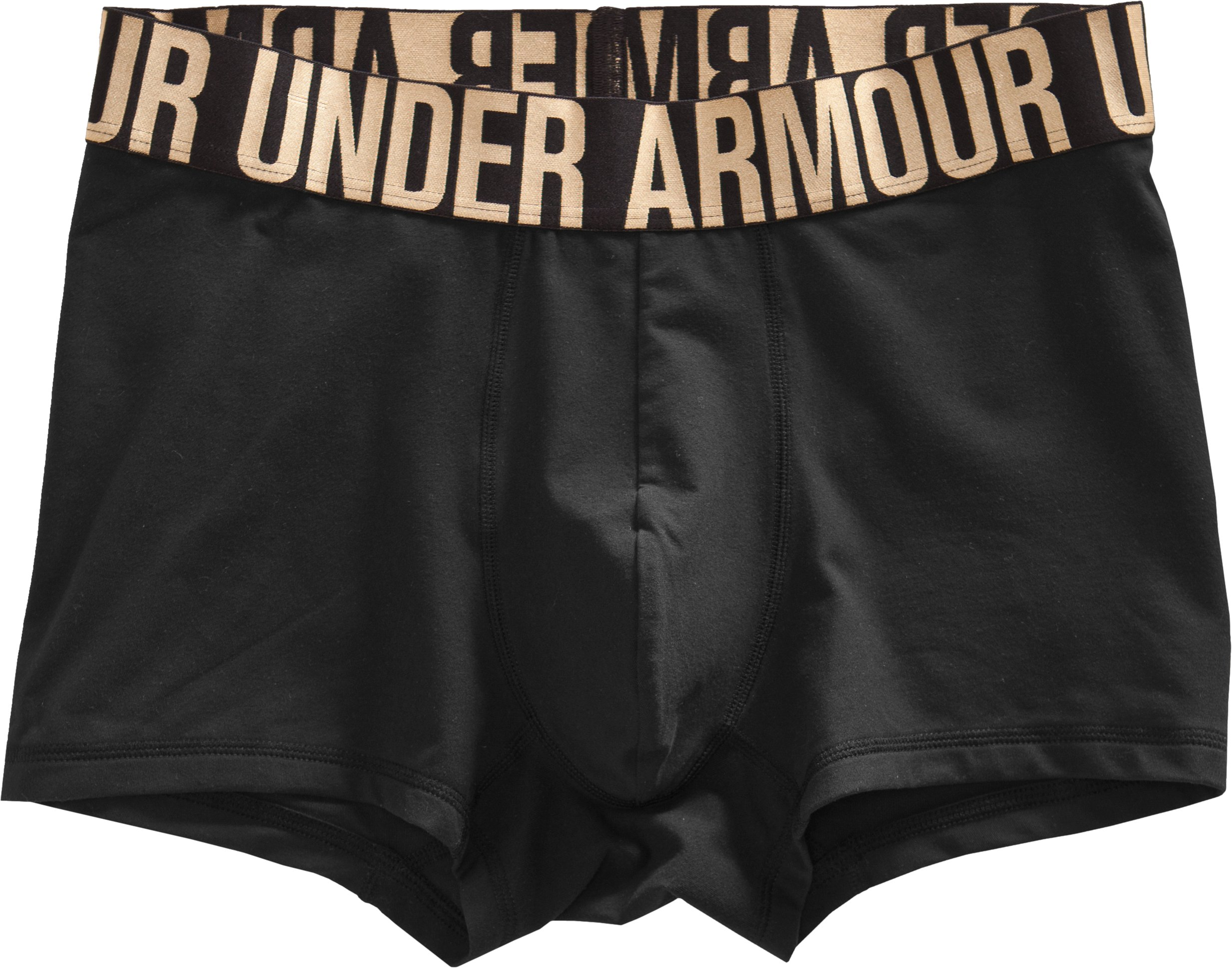 "Men's UA Elite 3"" Boxerjock® Boxer Briefs, Black , Laydown"