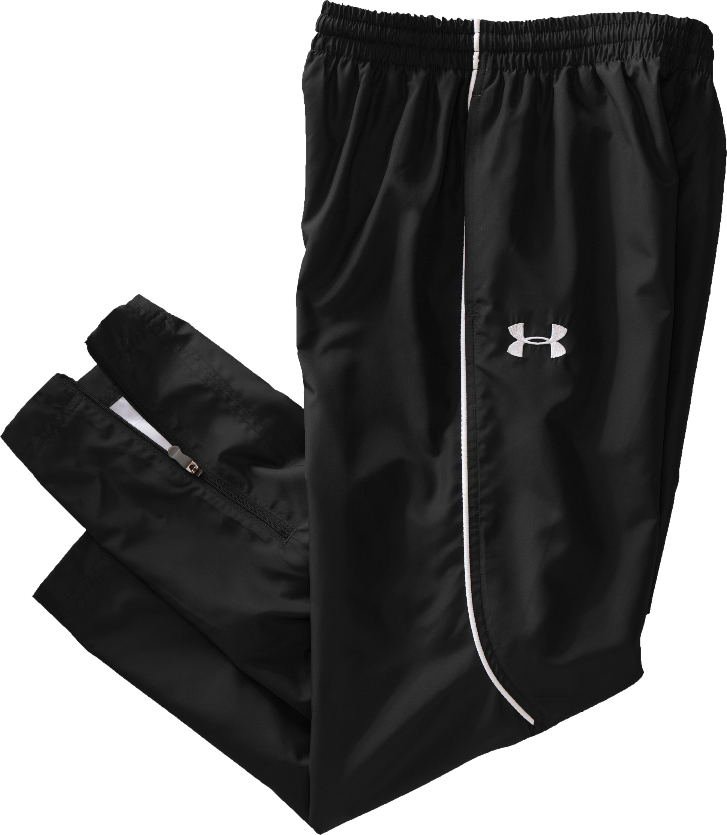 Boys' UA Advance Warm-Up Pants, Black , Laydown
