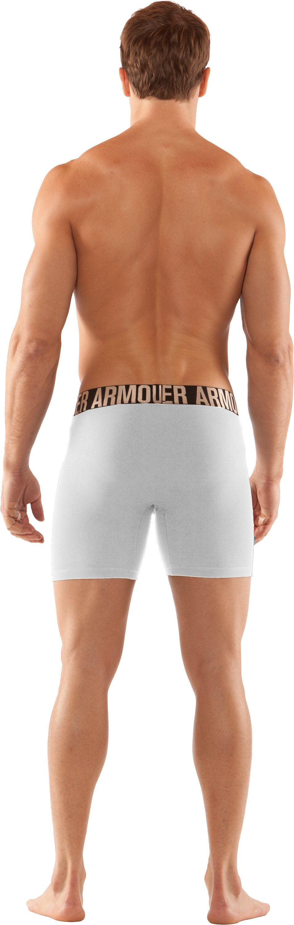 "Men's UA Elite 6"" Boxerjock® Boxer Briefs, White, Back"