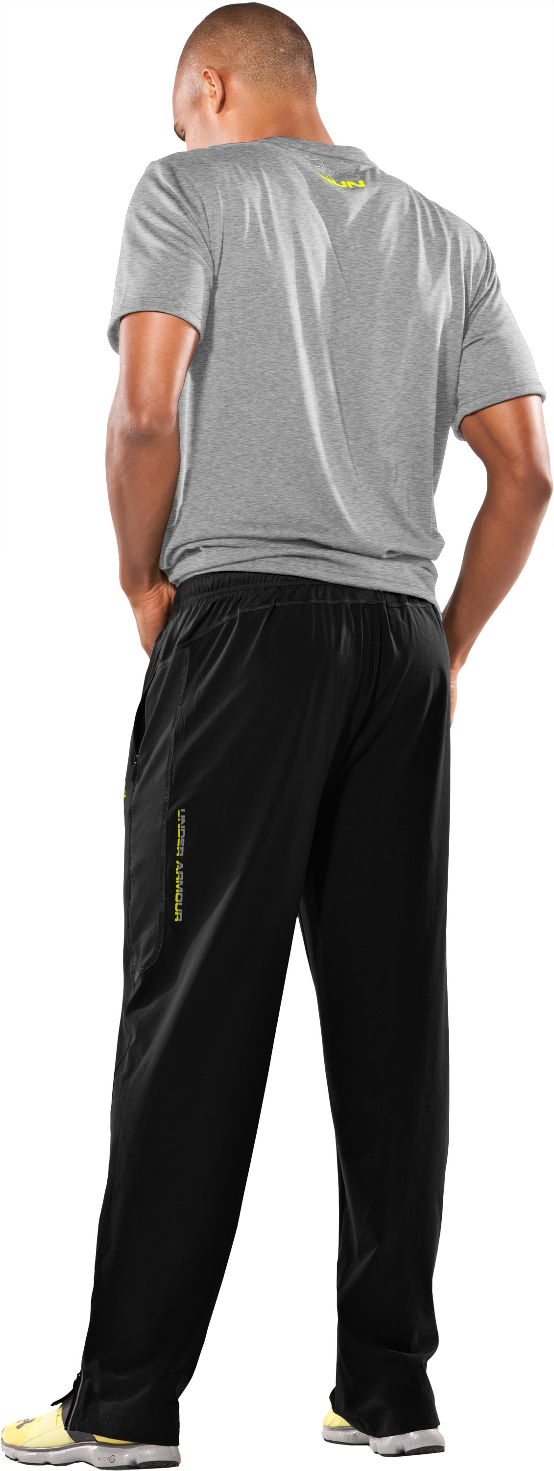 Men's UA Run Pants, Black , Back