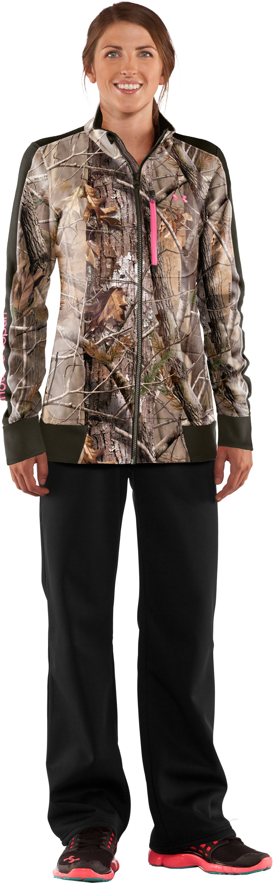 Women's Ayton Fleece Jacket, Realtree AP, Front
