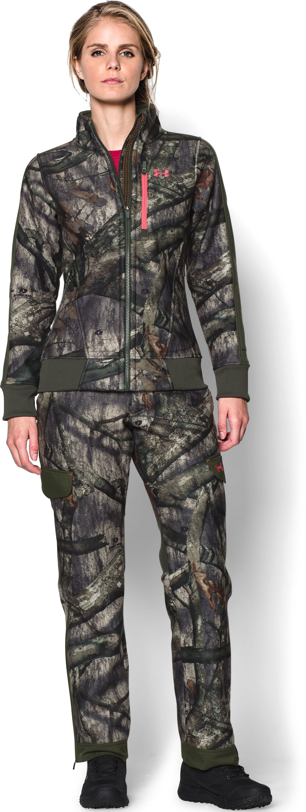 Women's Ayton Fleece Jacket, Mossy Oak Treestand, Front