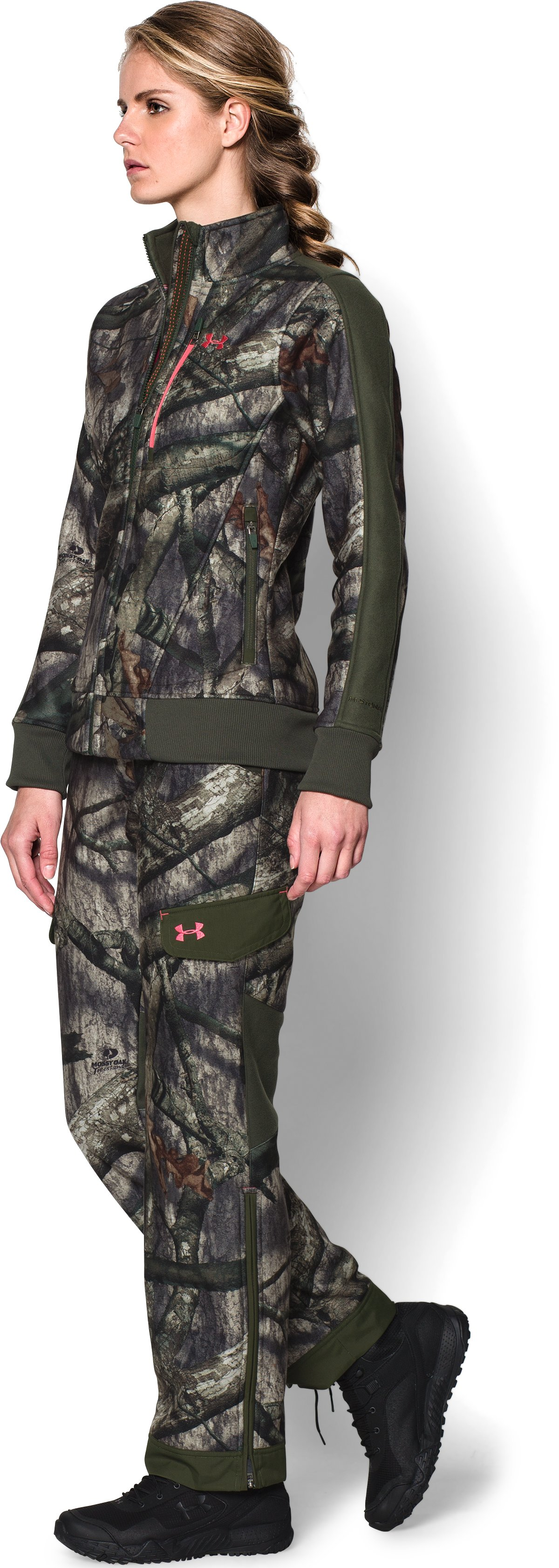 Women's Ayton Fleece Jacket, Mossy Oak Treestand