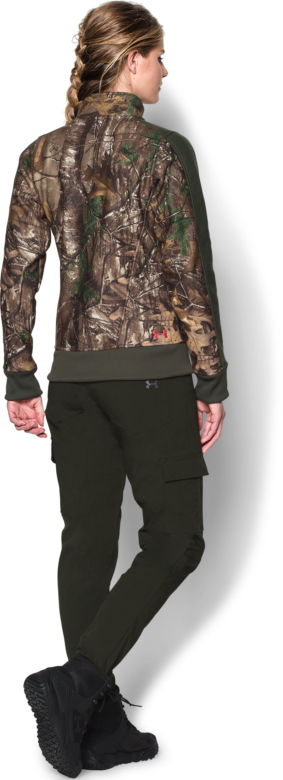 Women's Ayton Fleece Jacket, REALTREE AP-XTRA, Back