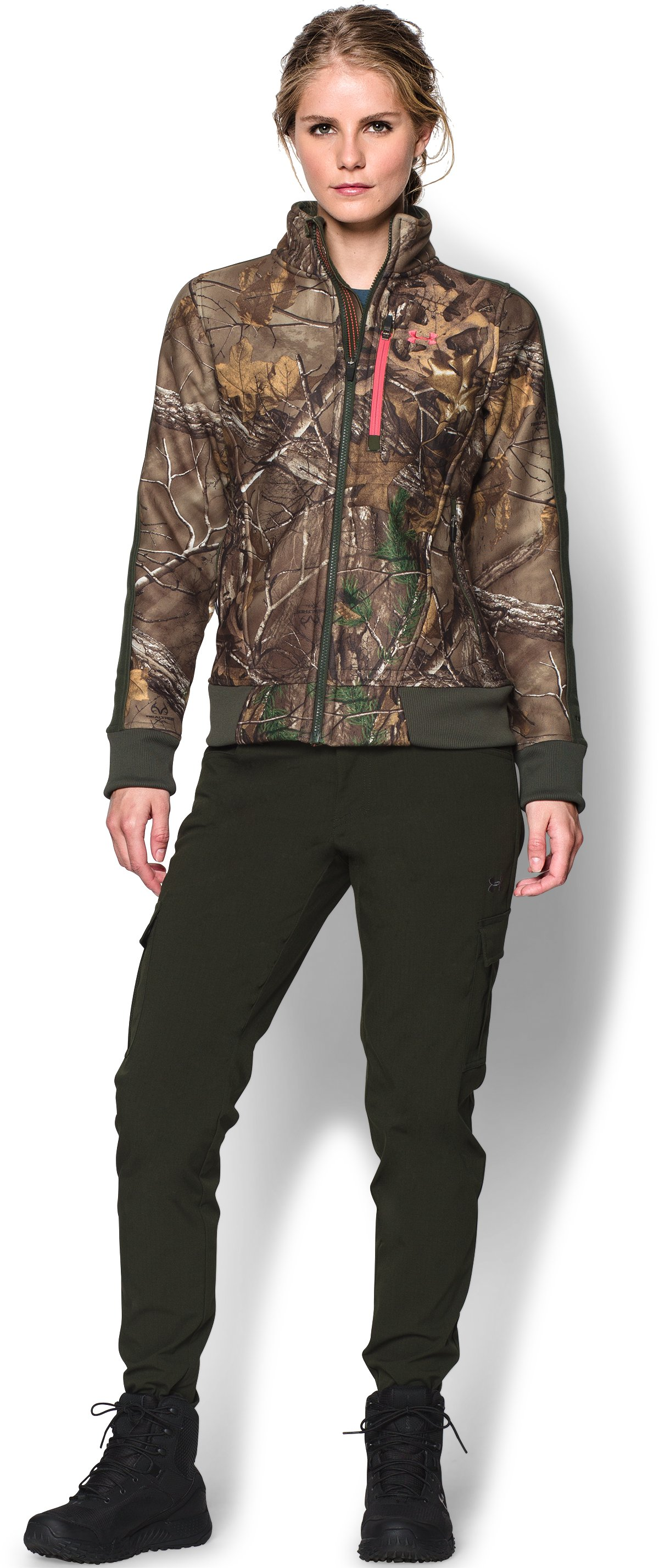 Women's Ayton Fleece Jacket, REALTREE AP-XTRA, Front