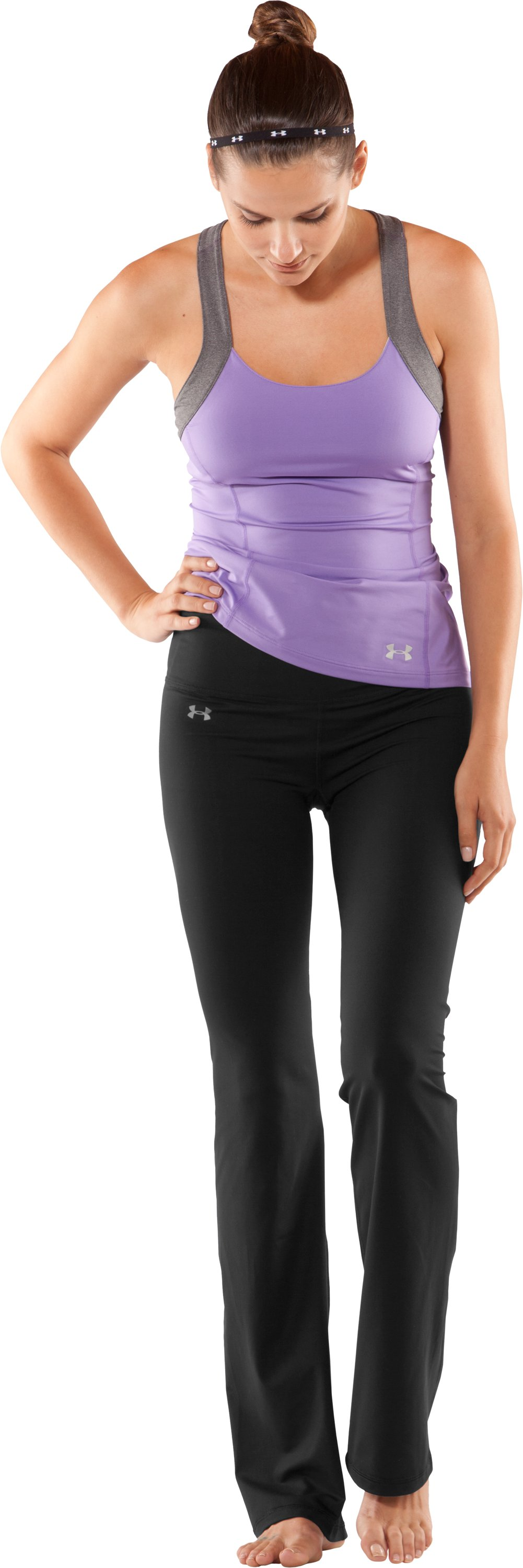 "Women's UA Perfect Pant - 33.5"", Black , Front"