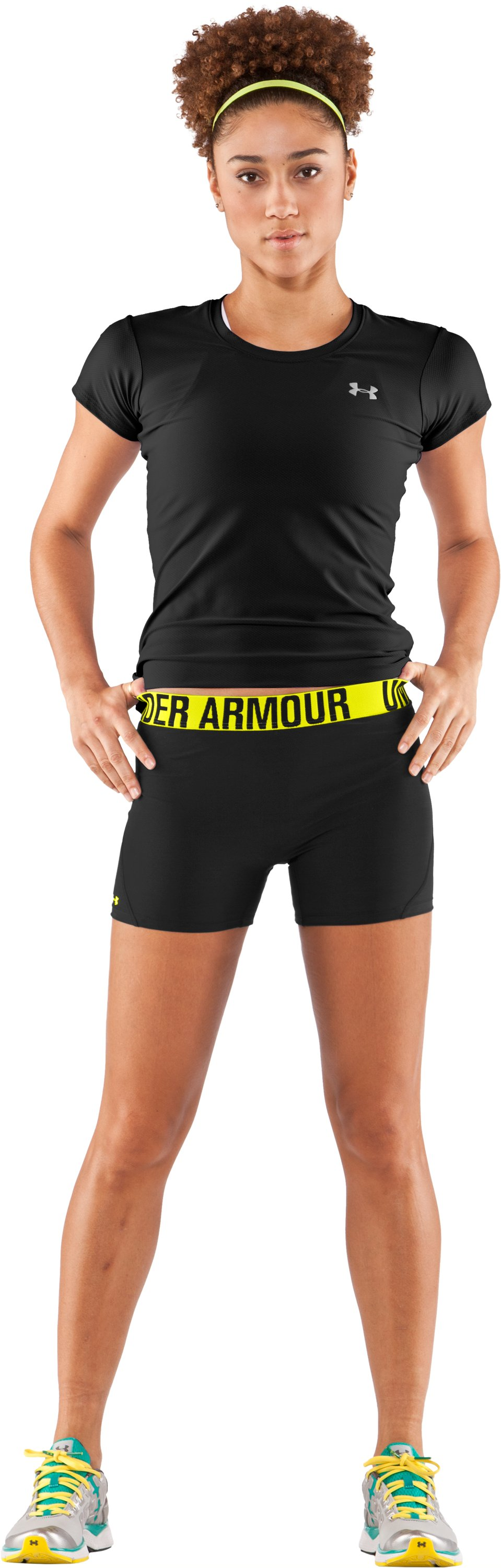"Women's UA Block It 3"" Shorts, Black , Front"