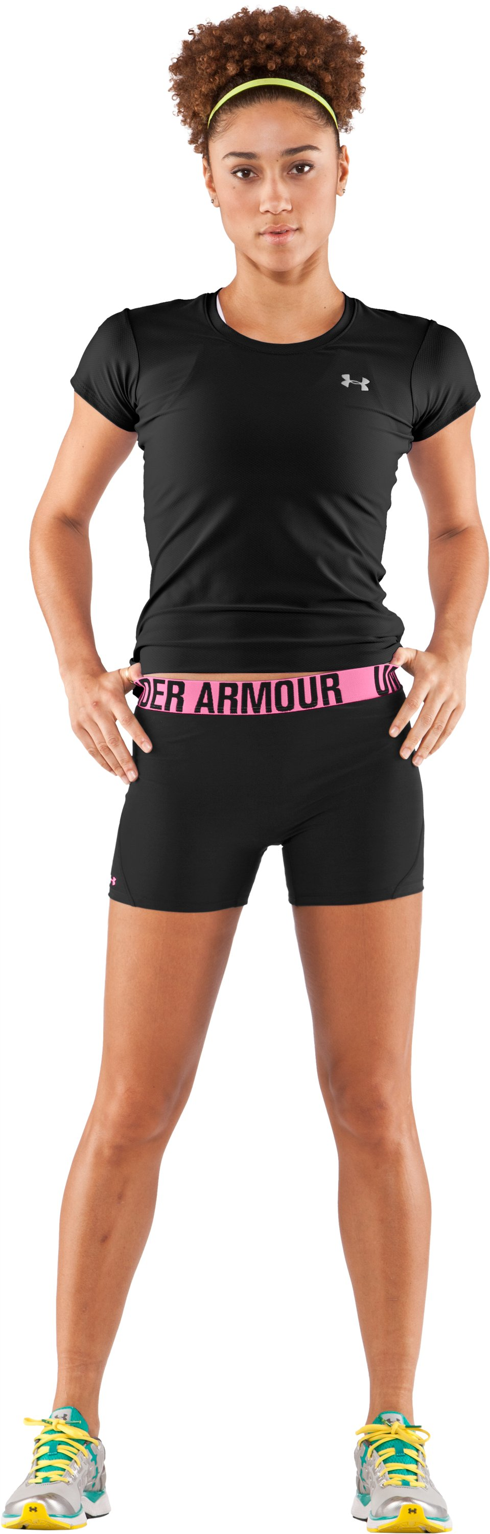 "Women's UA Block It 3"" Shorts, Black , zoomed image"