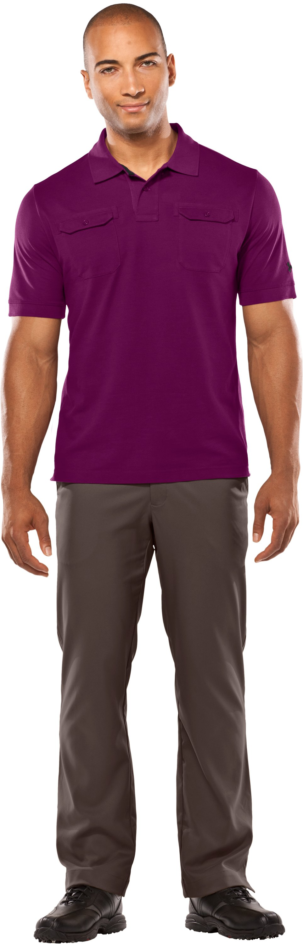 Men's Charged Cotton® Pique Pocket Polo, Beet