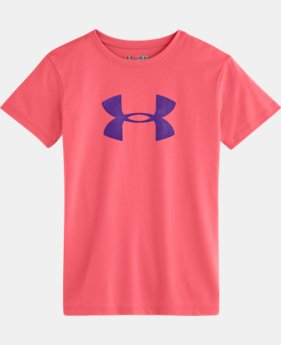 Girls' UA Big Logo Short Sleeve T-Shirt