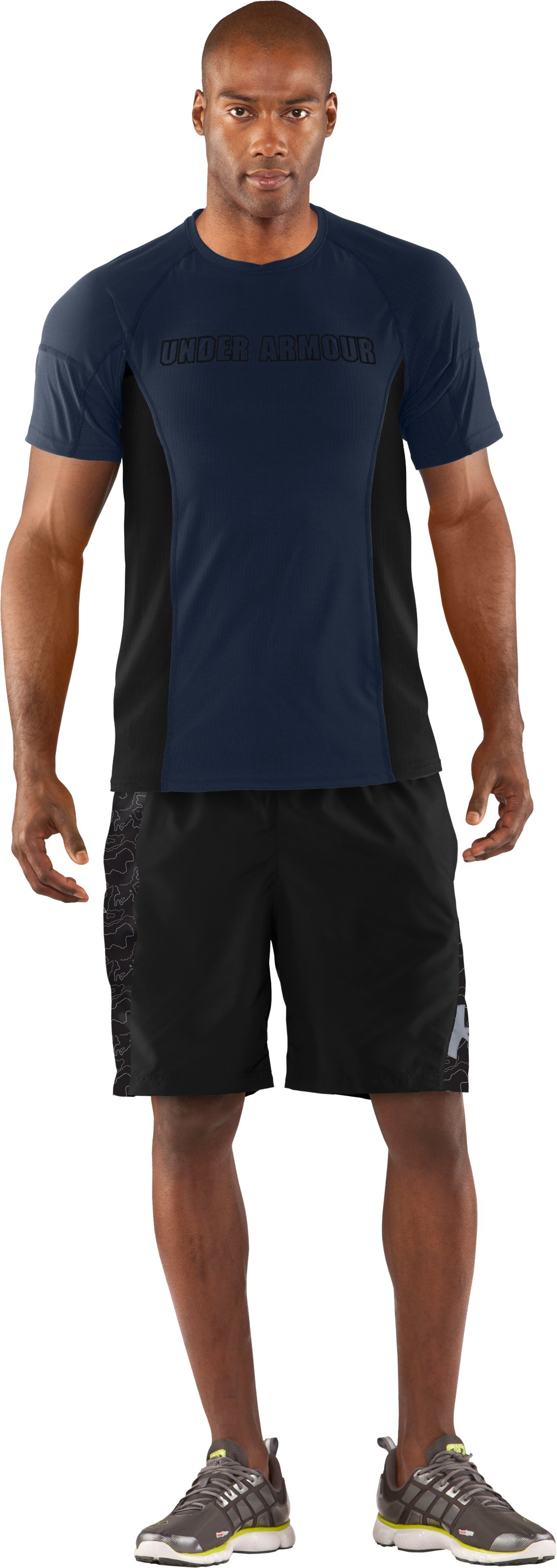 Men's UA Tough Run Shorts, Black , zoomed image