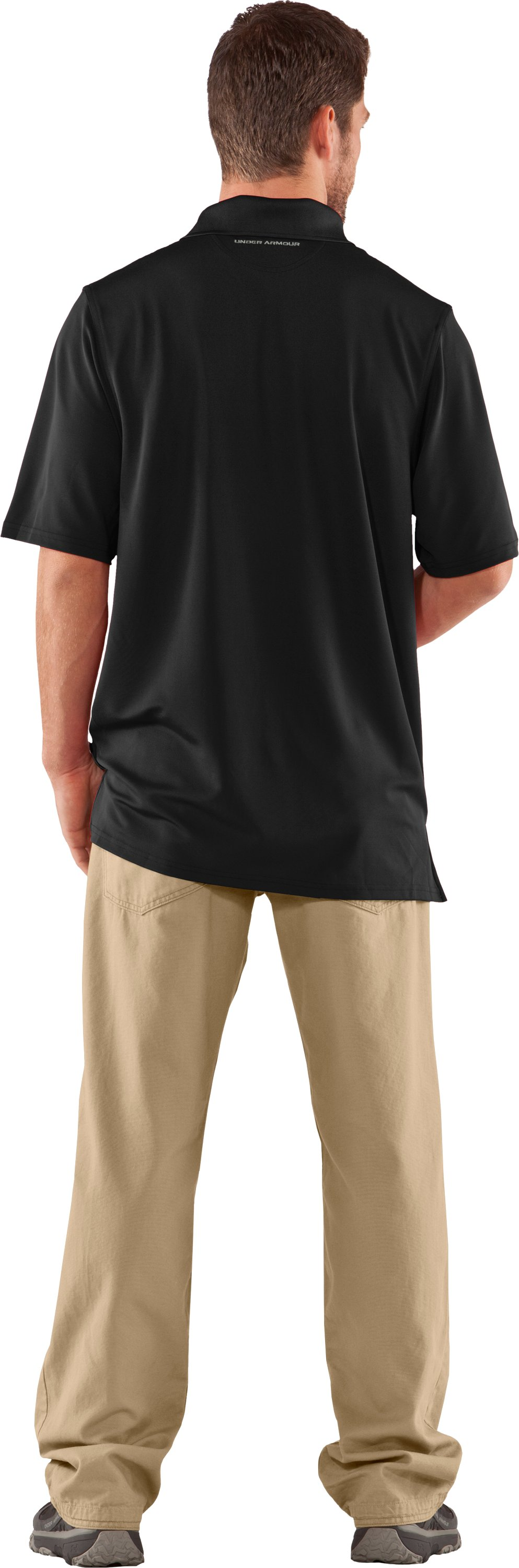 Men's UA Performance Antler Logo Polo, Black , Back