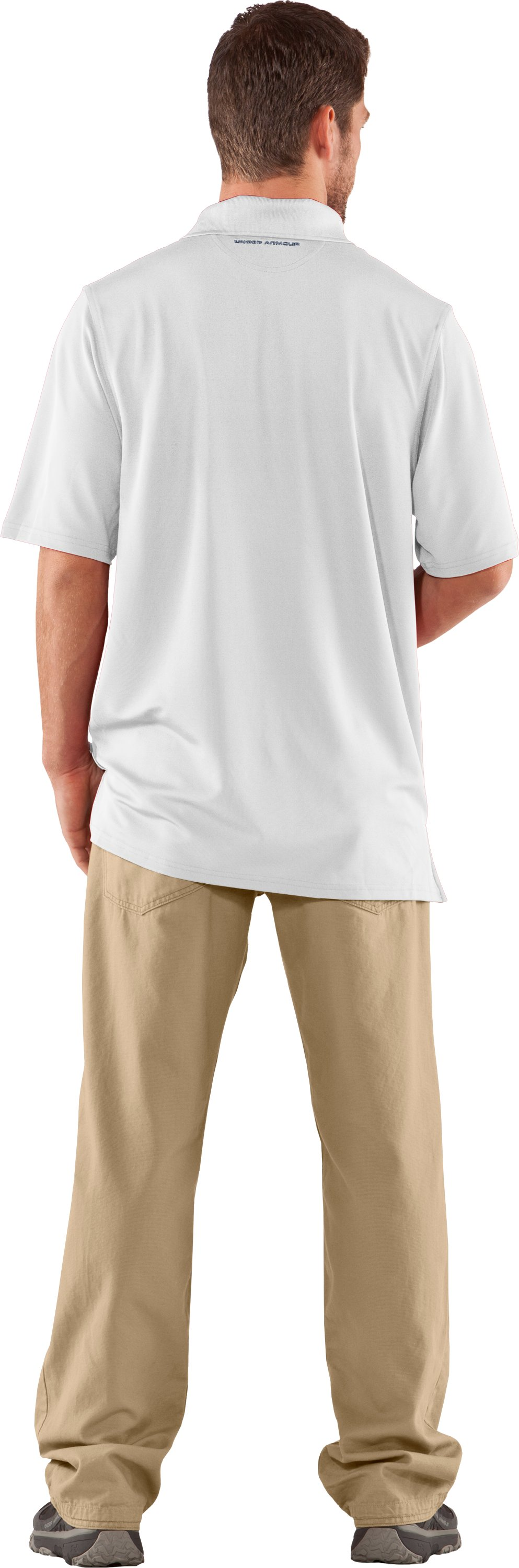 Men's UA Performance Antler Logo Polo, White, Back