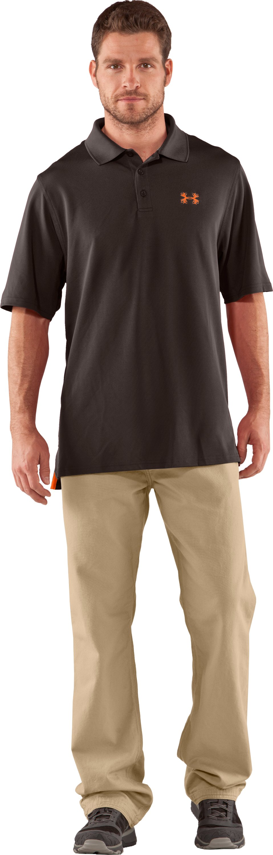 Men's UA Performance Antler Logo Polo, Bureau, zoomed image