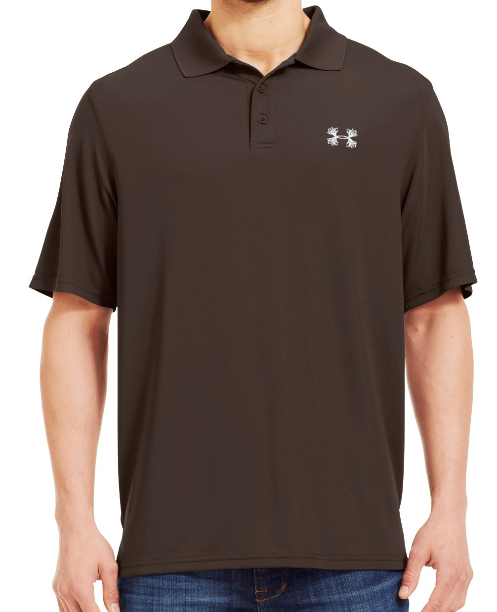Men's UA Performance Antler Logo Polo, Timber, Front
