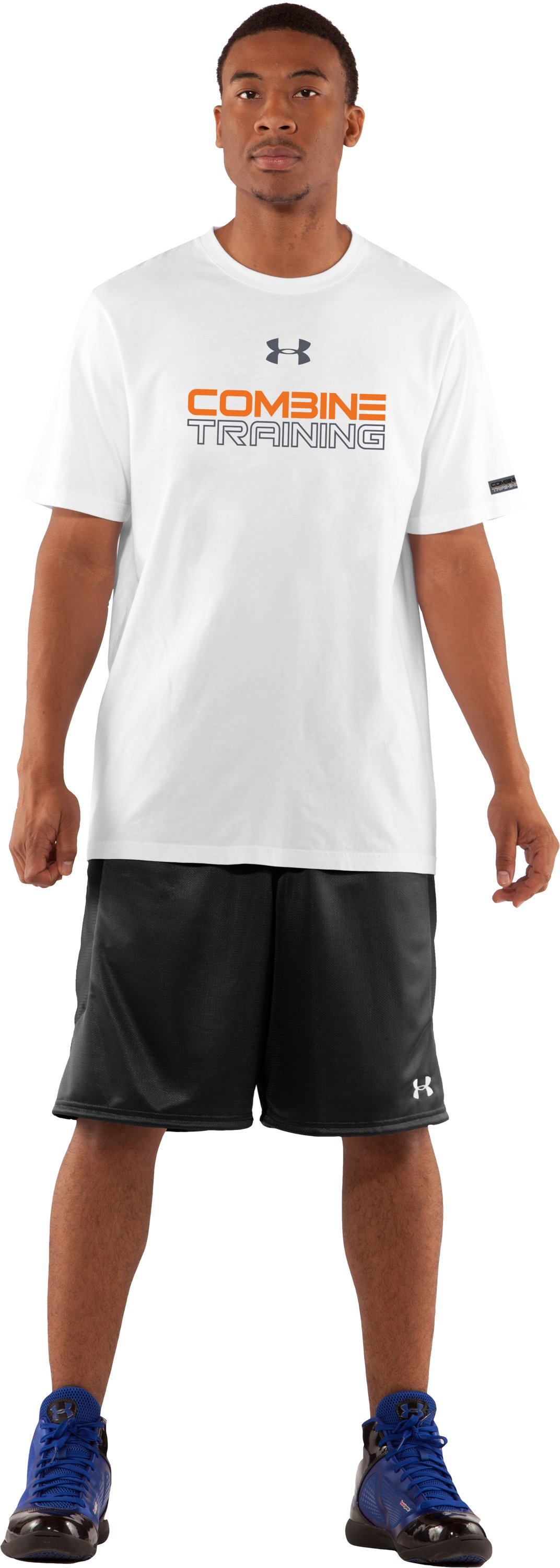 Men's UA Combine® Training Graphic T-Shirt, White, zoomed image
