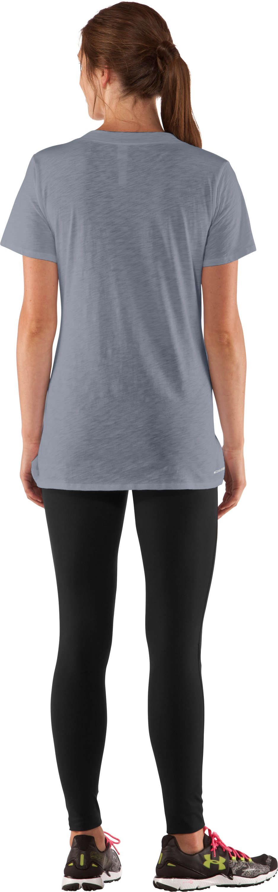 Women's Charged Cotton® Slub T-Shirt, Steel, Back