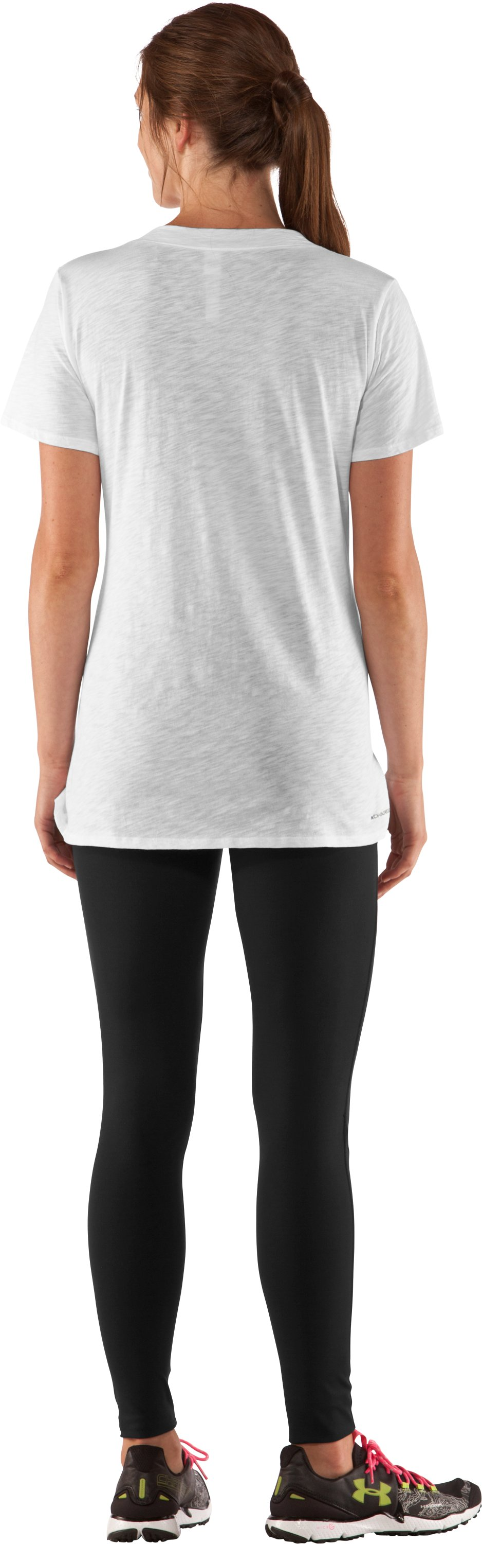 Women's Charged Cotton® Slub T-Shirt, White, Back