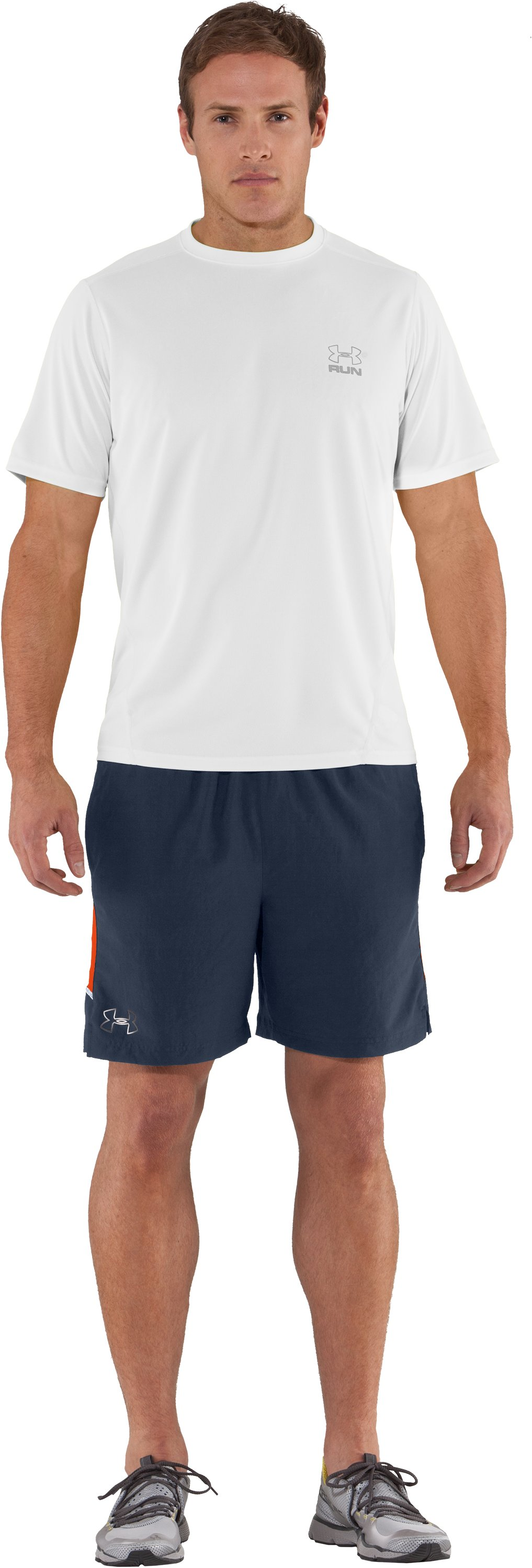 Men's UA Run HeatGear® Short Sleeve T-Shirt, White, zoomed image