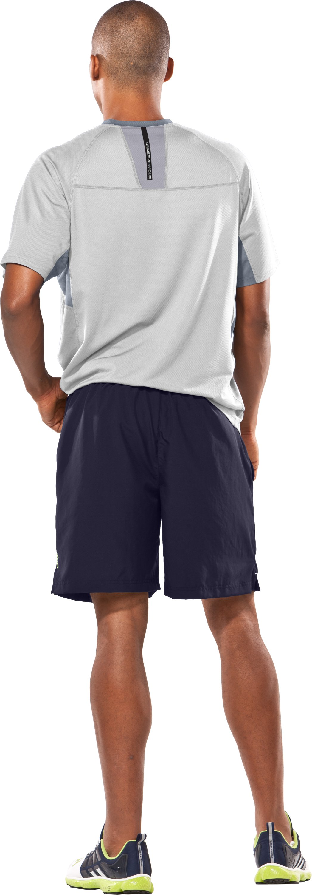 "Men's UA Escape 7"" Solid Shorts, Midnight Navy, Back"