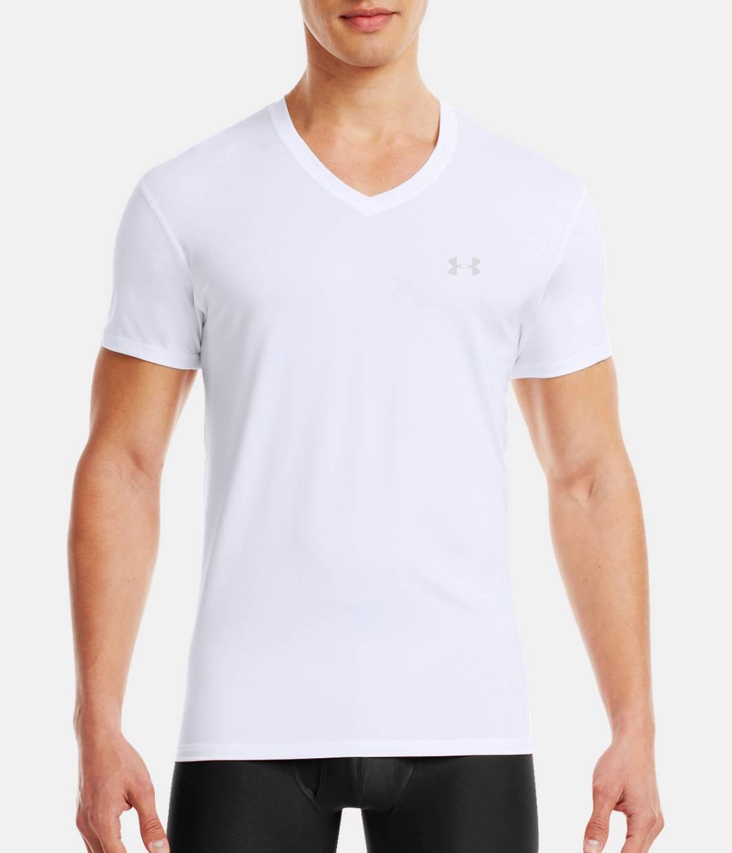 Men s the original ua fitted v neck undershirt under for Mens under armour under shirt