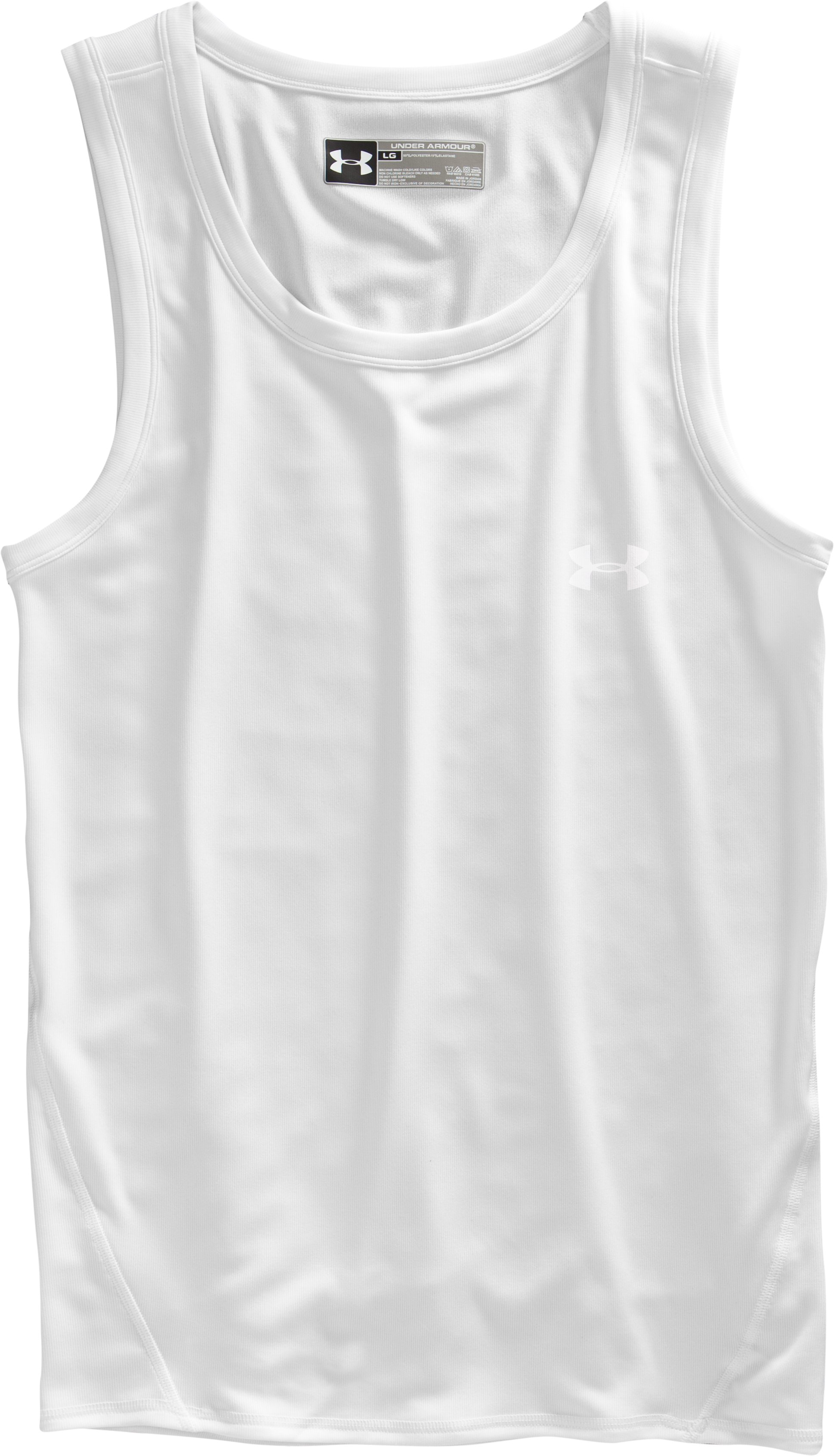 Men's The Original UA Fitted Tank, White, Laydown