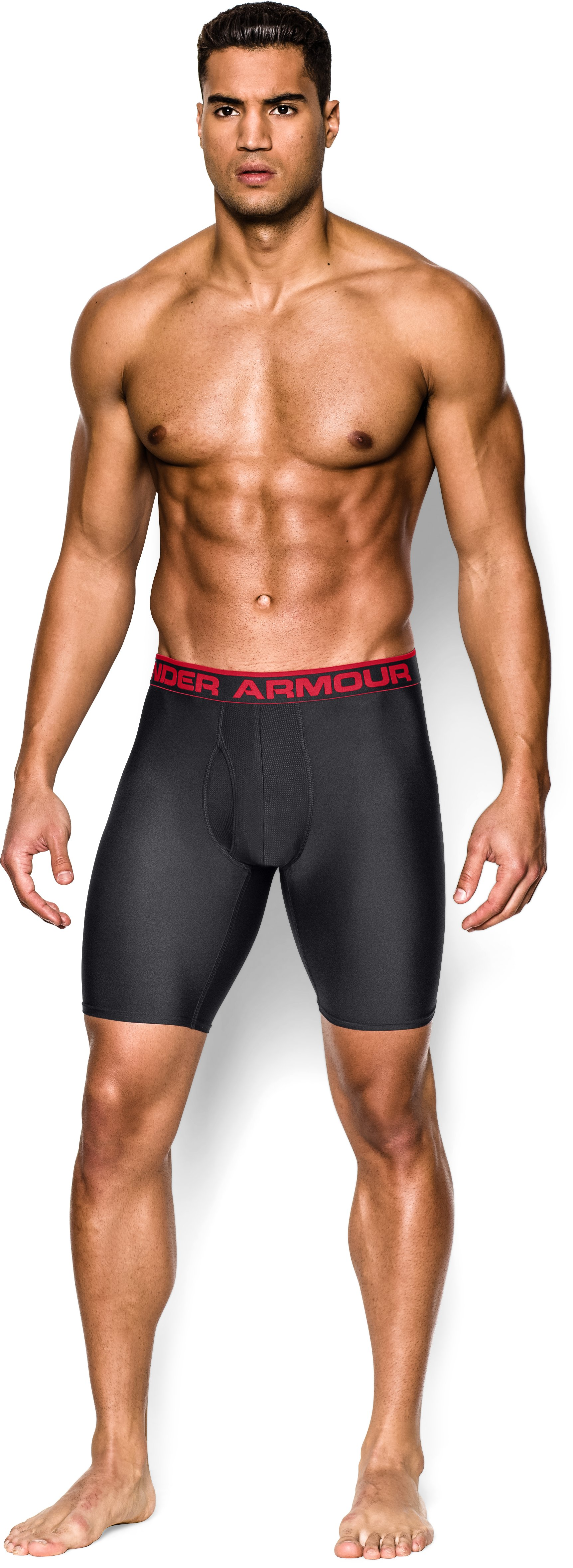"Men's UA Original Series 9"" Boxerjock®, Black , zoomed image"