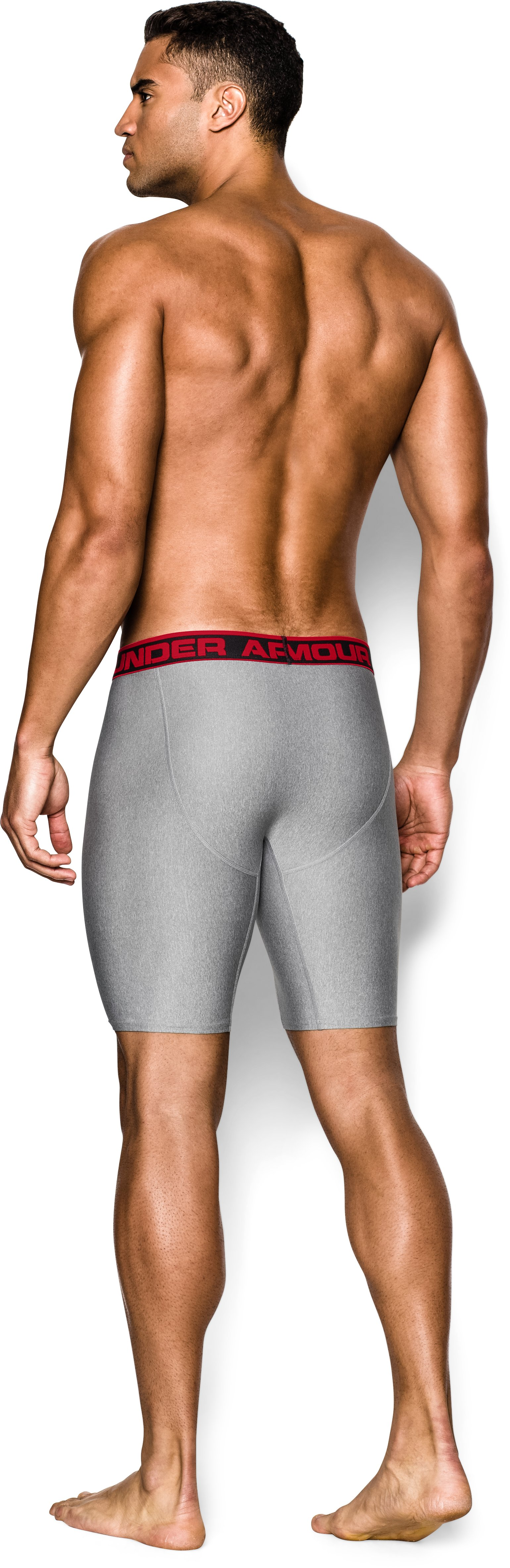 "Men's UA Original Series 9"" Boxerjock®, True Gray Heather, Back"