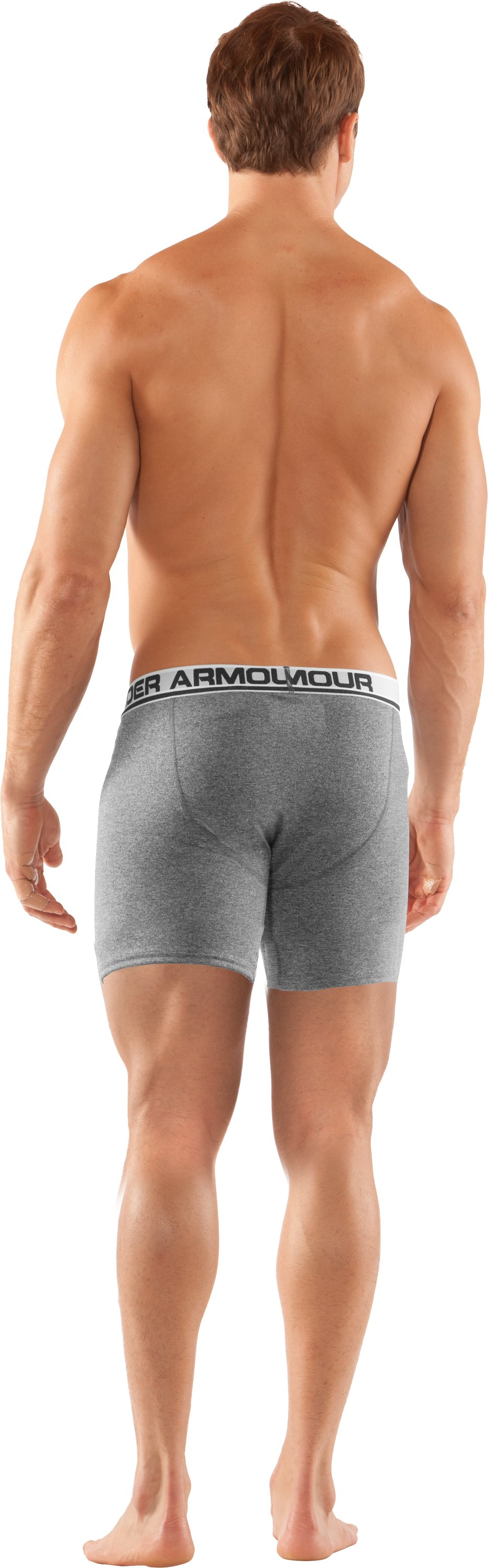"Men's UA Touch 6"" Boxerjock® Boxer Briefs, Black , Back"