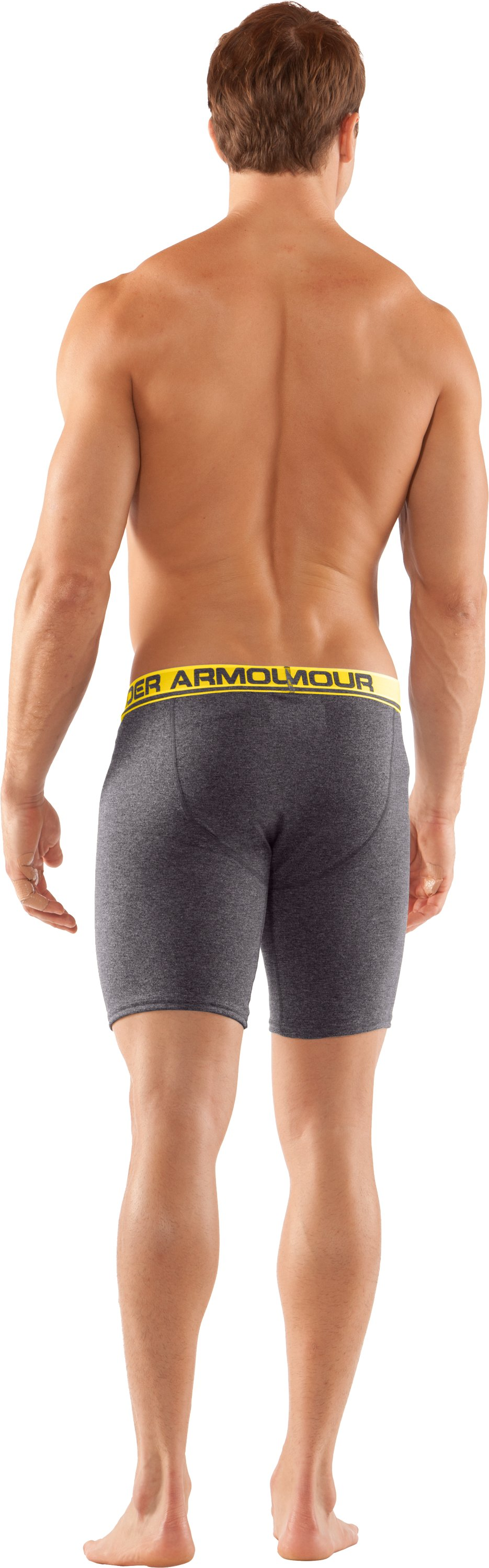 "Men's UA Touch 9"" Boxerjock® Boxer Briefs, Carbon Heather, Back"