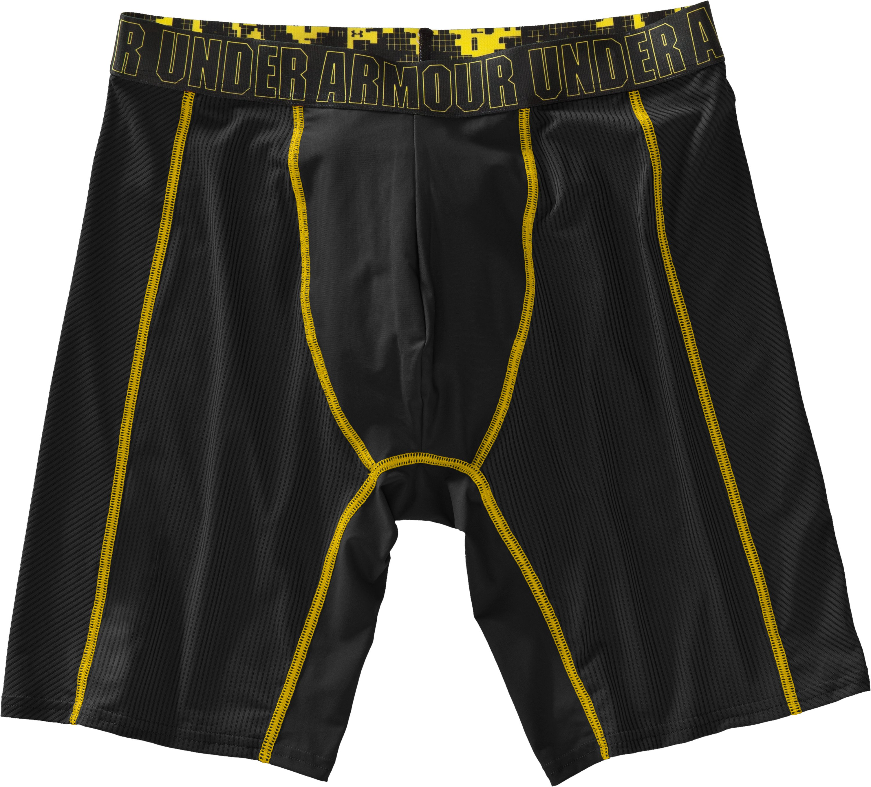 "Men's UA Icon 9"" Boxerjock® Boxer Briefs, Black , Laydown"