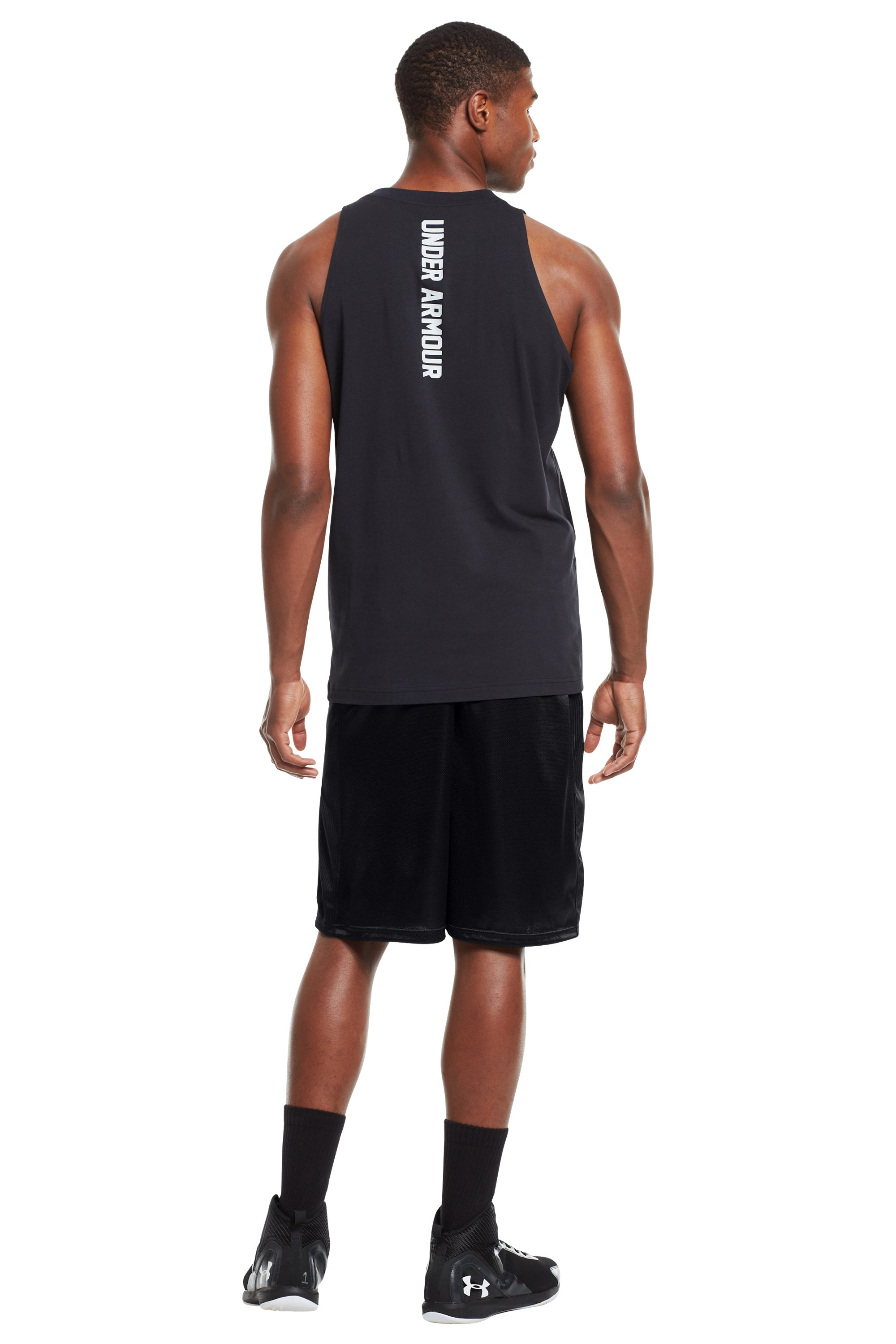 "Men's UA Never Lose 10"" Basketball Shorts, Black , Back"