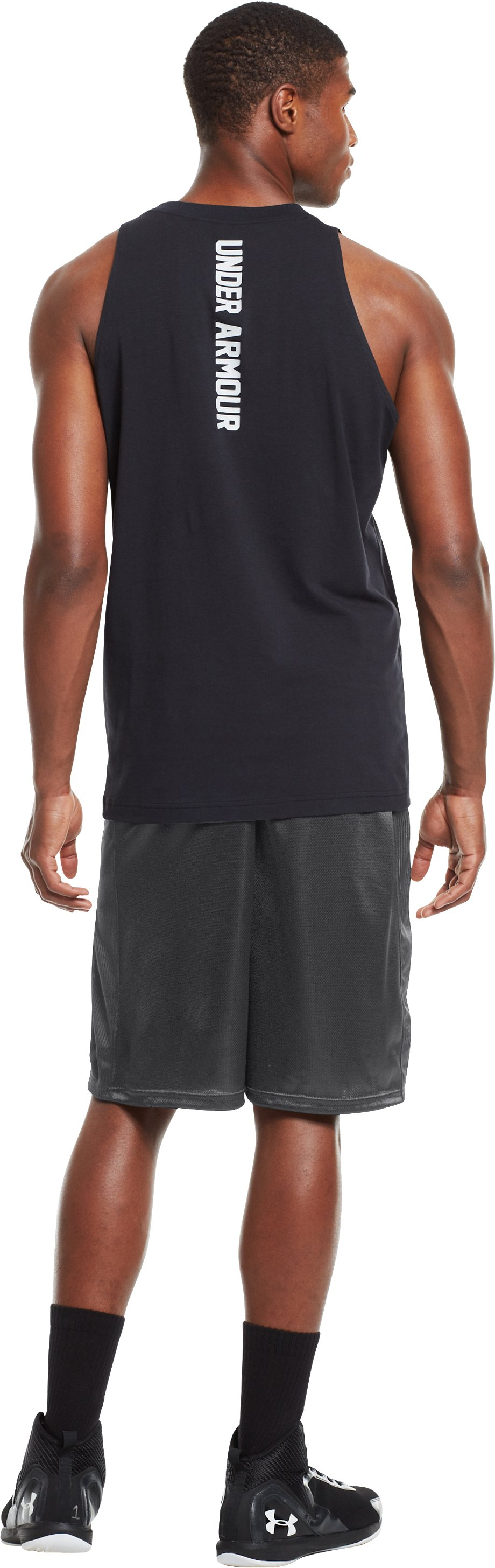 "Men's UA Never Lose 10"" Basketball Shorts, Graphite, Back"