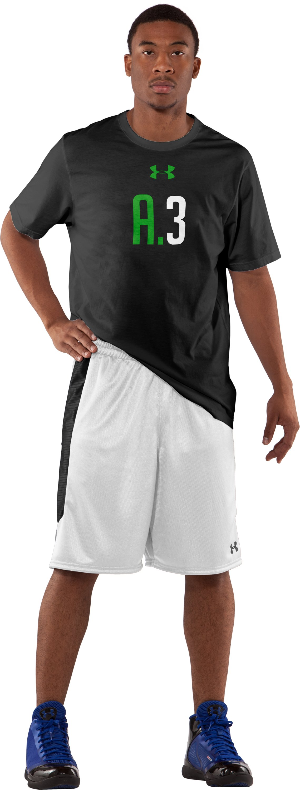 "Men's UA Never Lose 10"" Basketball Shorts, White"