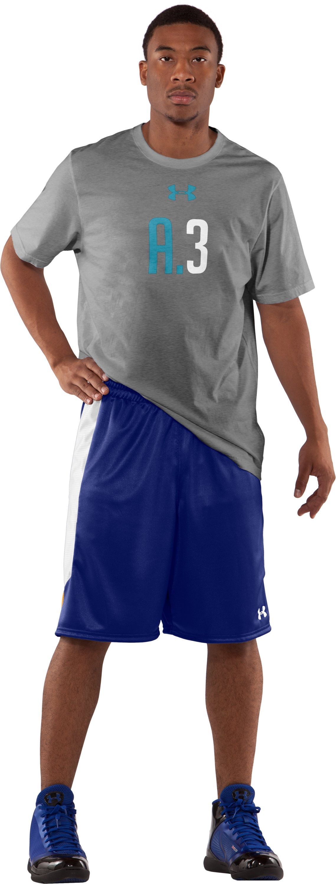 "Men's UA Never Lose 10"" Basketball Shorts, Royal, zoomed image"