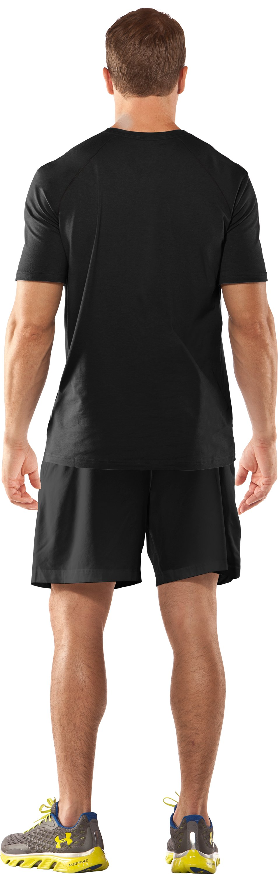 Men's UA Antler Logo T-Shirt, Black , Back
