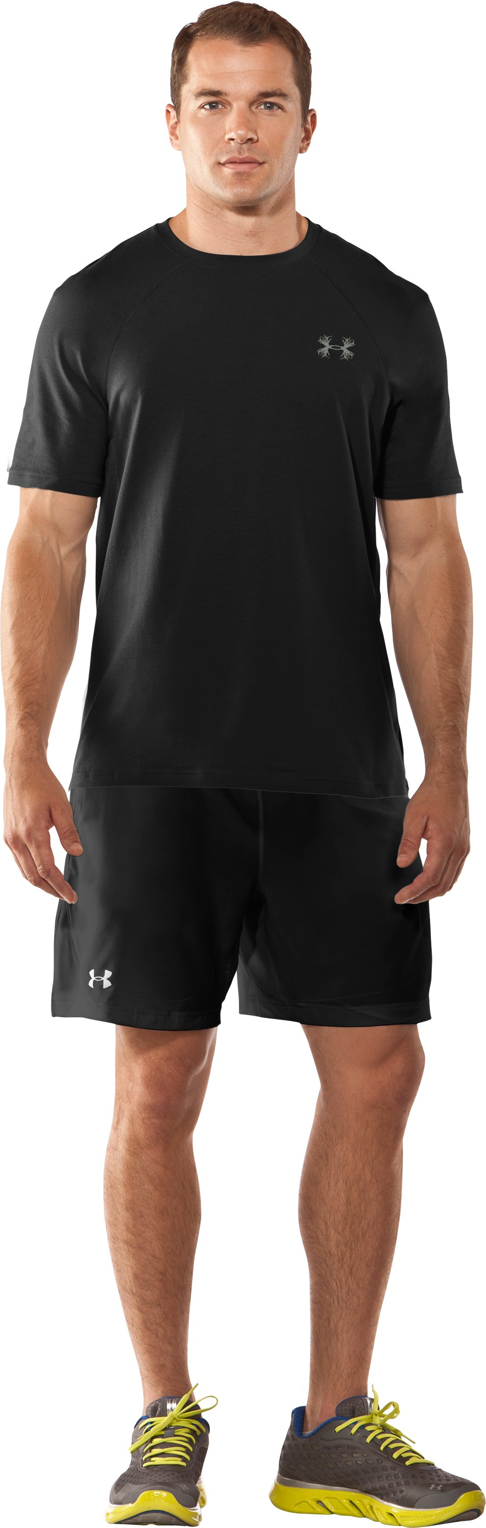 Men's UA Antler Logo T-Shirt, Black , Front