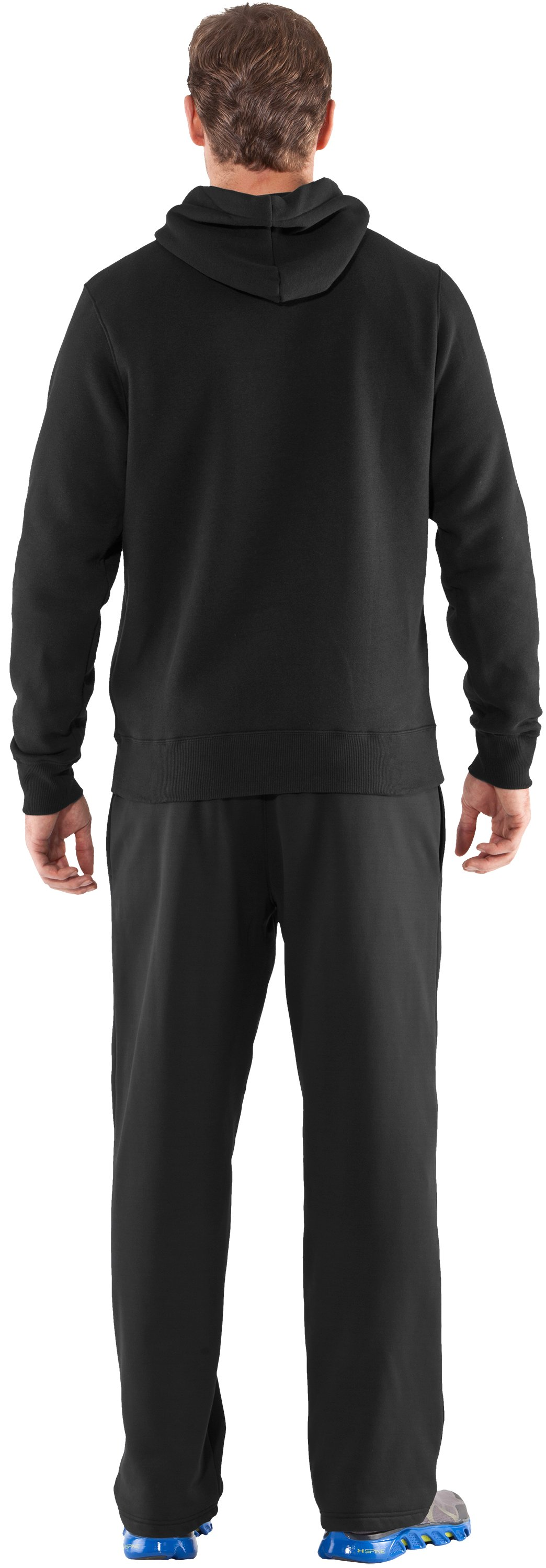 Men's Team Charged Cotton® Storm Hoodie, Black , Back