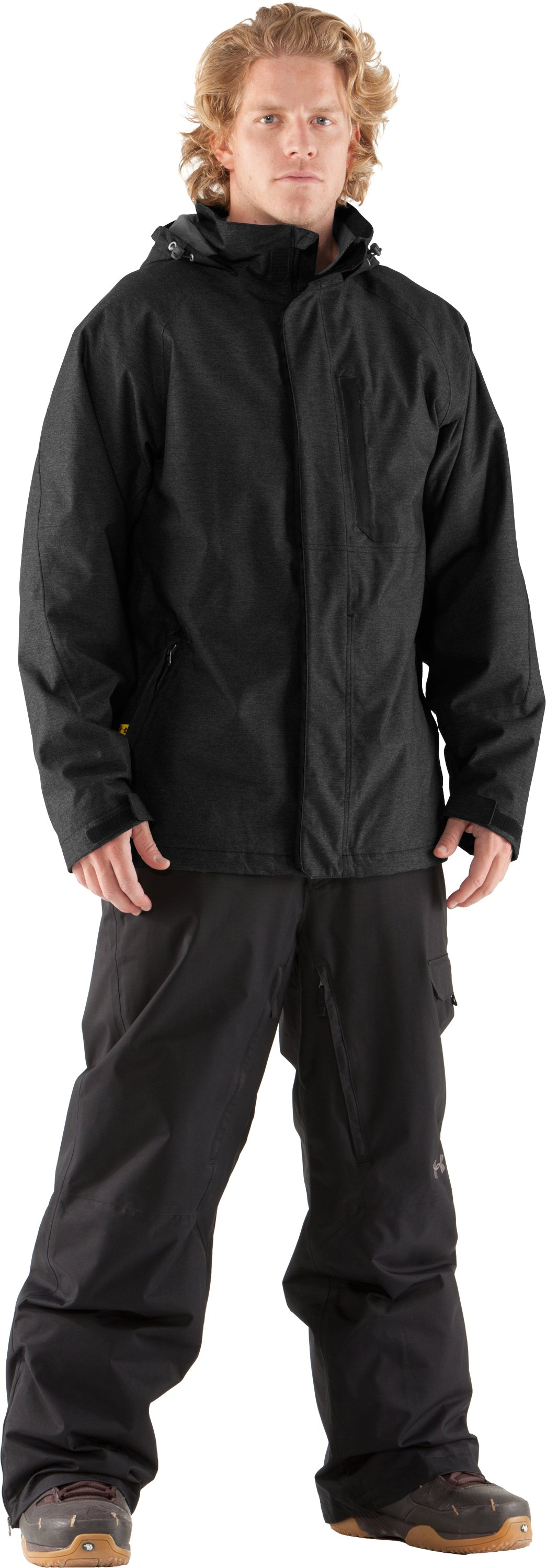 Men's UA Sandman Jacket, Black , Front
