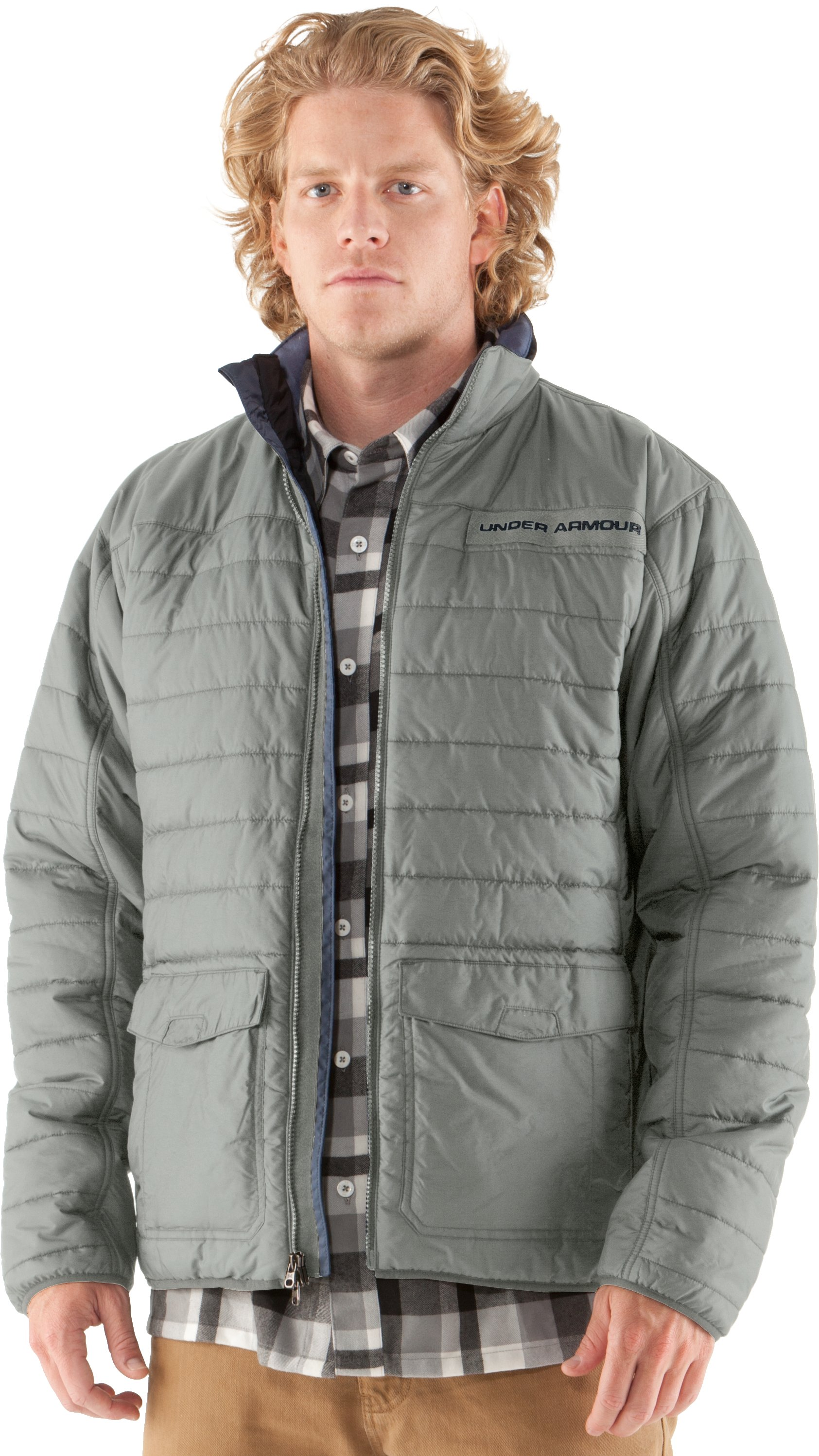 Men's UA Wolfe Jacket, Titanium, zoomed image