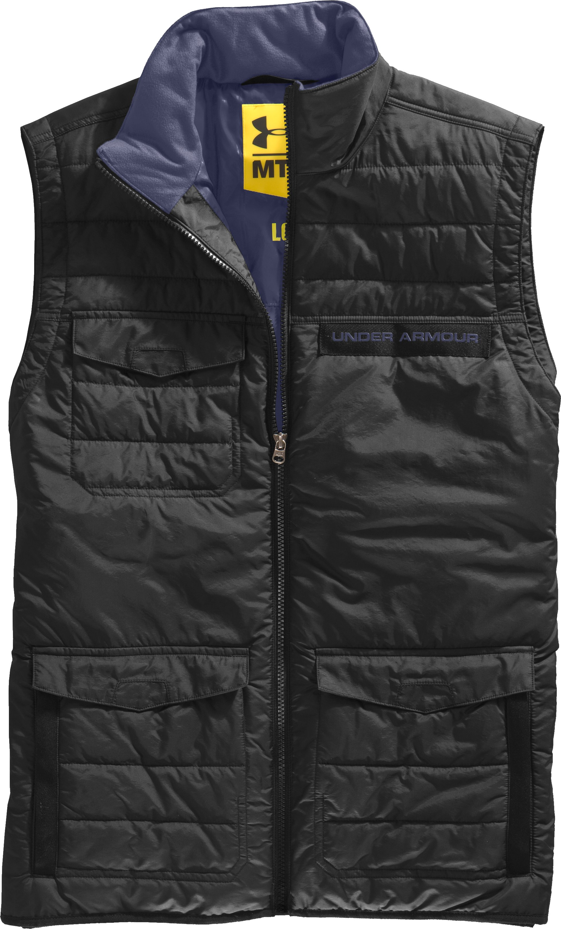 Men's UA Wolfe Vest, Black , Laydown