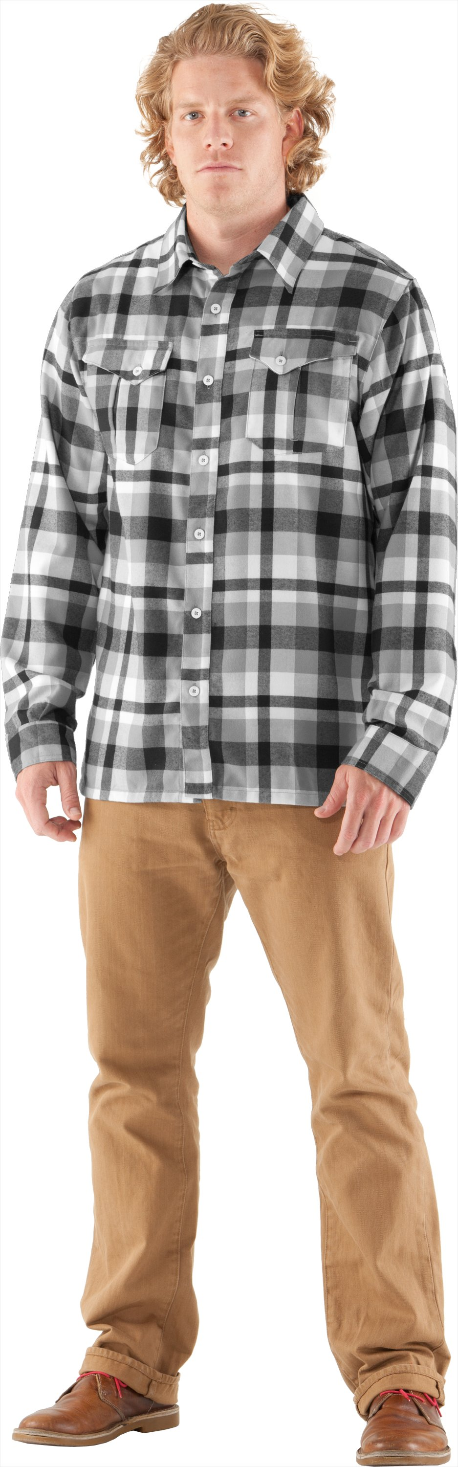 Men's UA Legit II Flannel, Black , Front