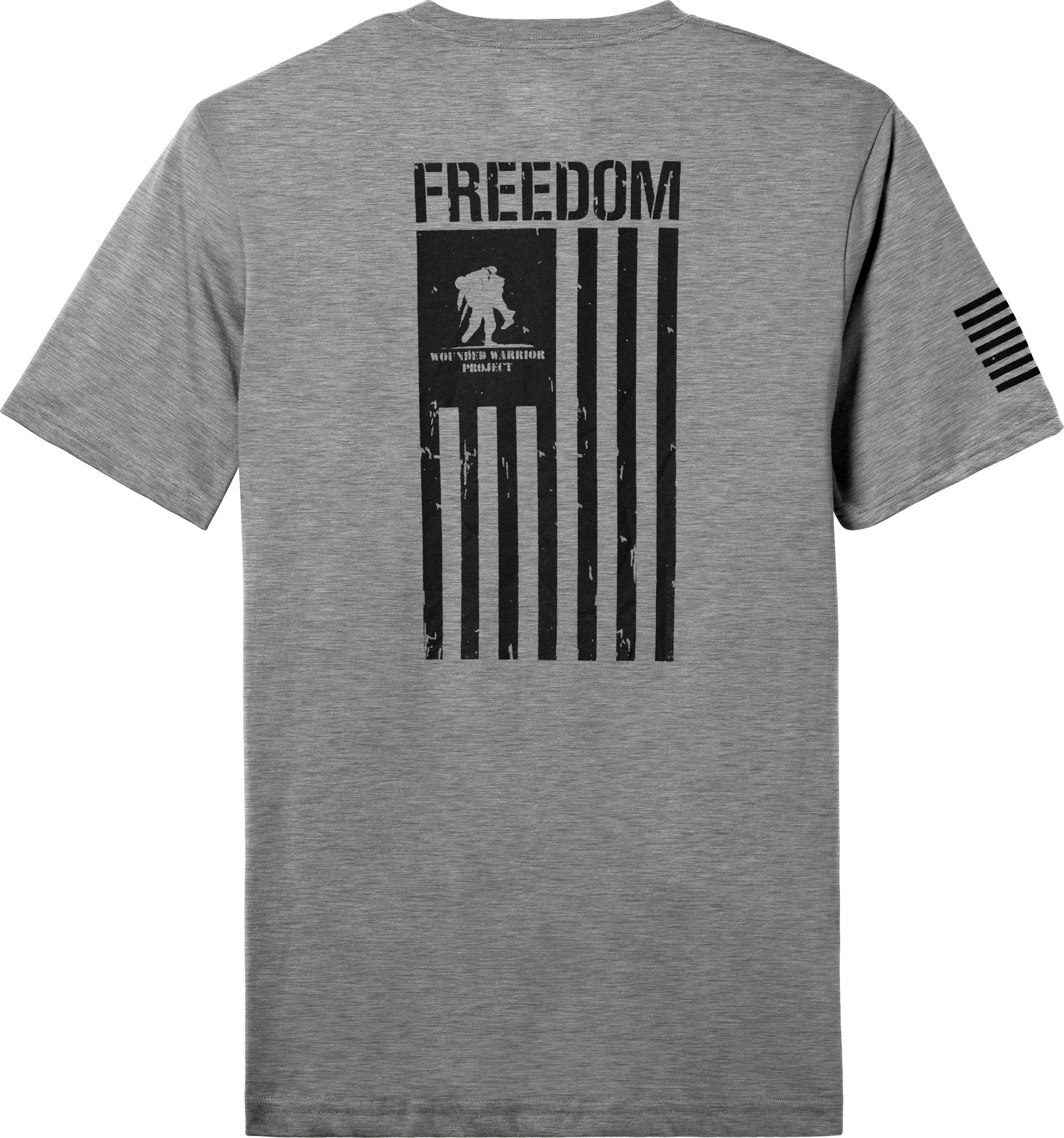 Men's UA WWP Freedom Flag T-Shirt, True Gray Heather