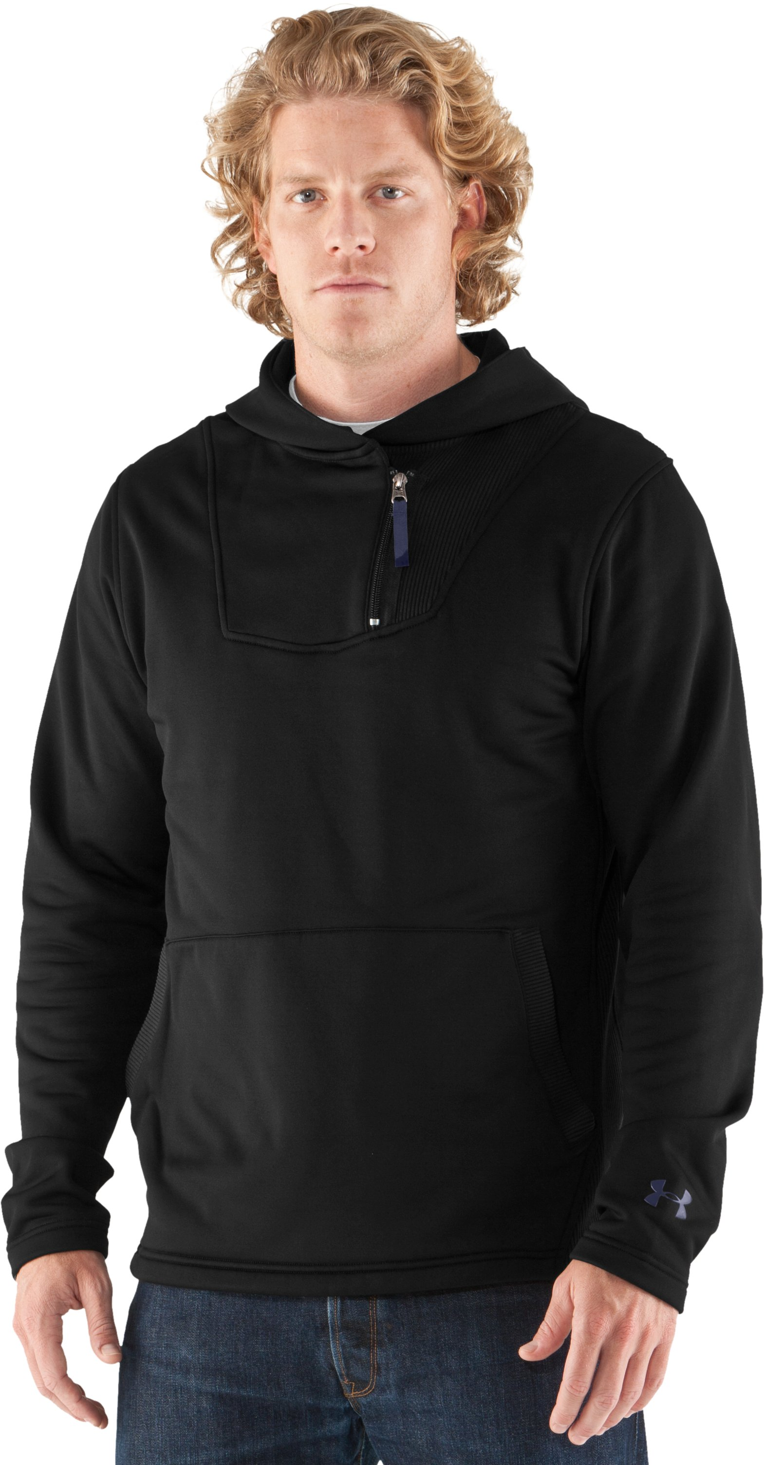 Men's UA Rhyme Stone Pullover Hoodie, Black , undefined